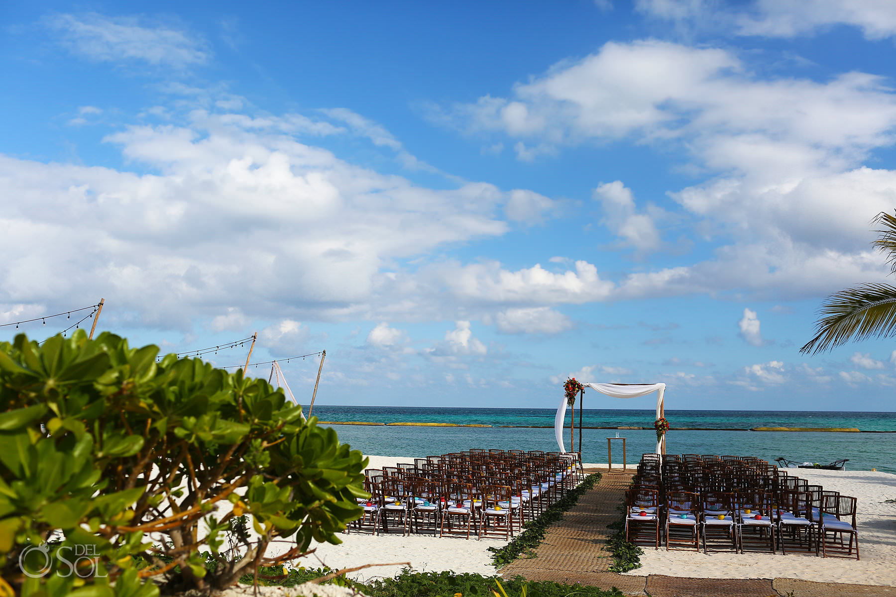 Andaz Mayakoba Wedding Ceremony Beach location