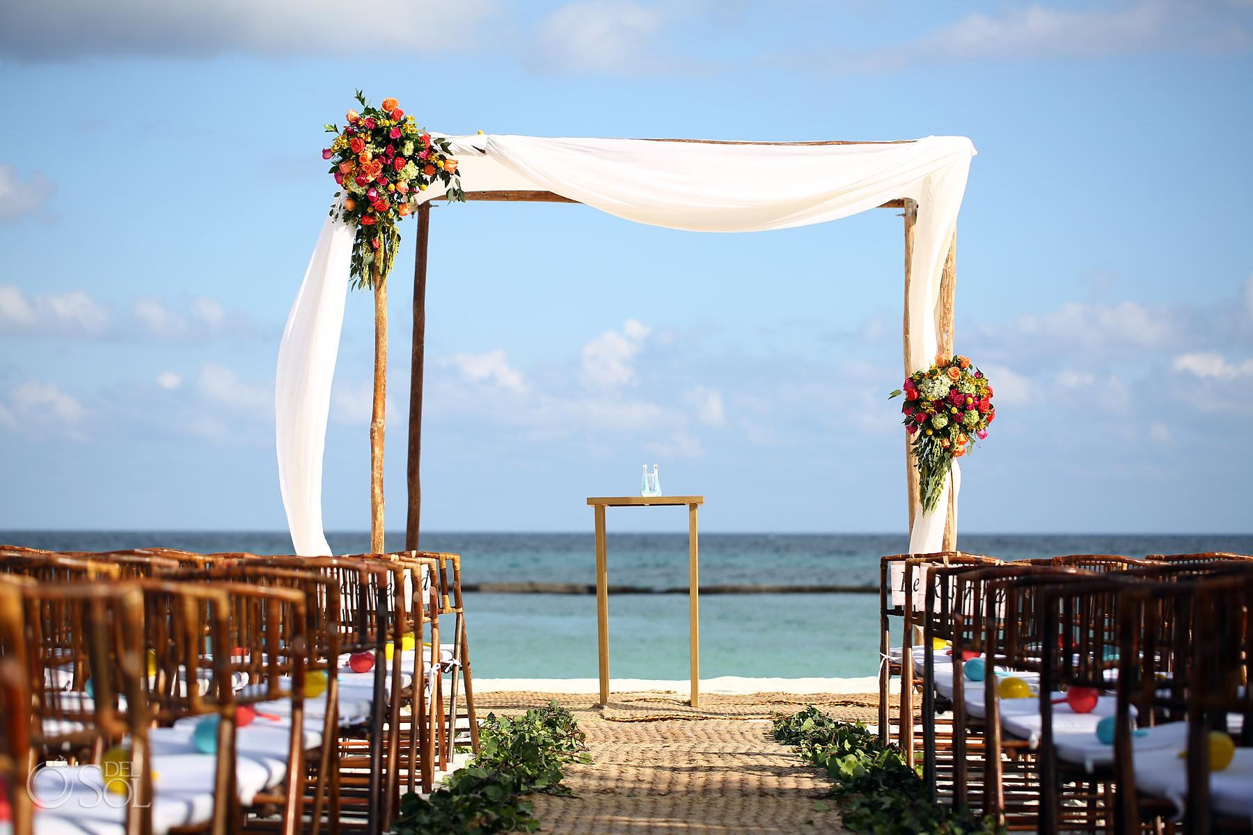 Andaz Mayakoba Wedding Ceremony Design decoration