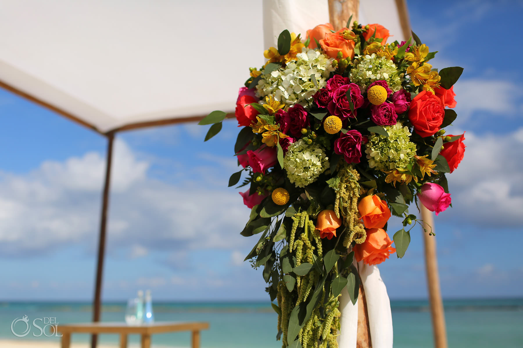 Andaz Mayakoba Wedding Flower decorations