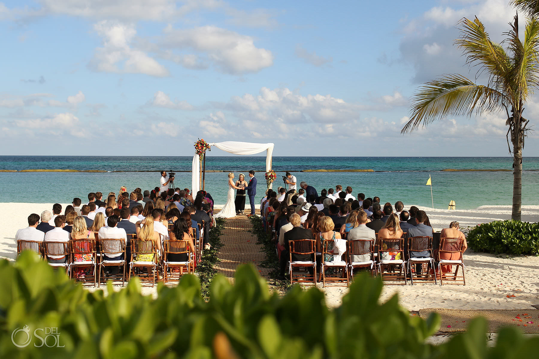 Andaz Mayakoba Wedding Ceremony on the beach