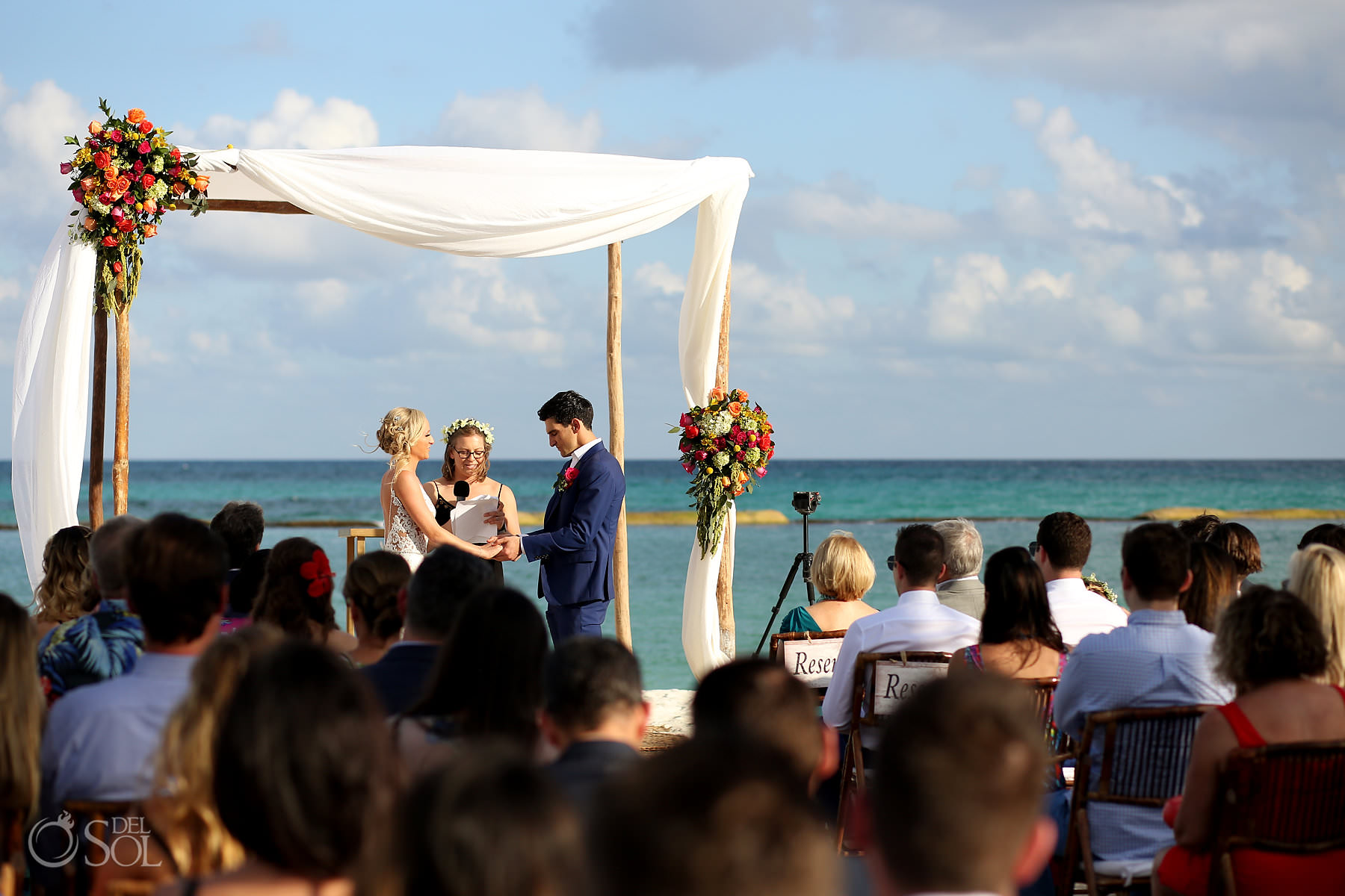 Andaz Mayakoba Wedding Beach ceremony