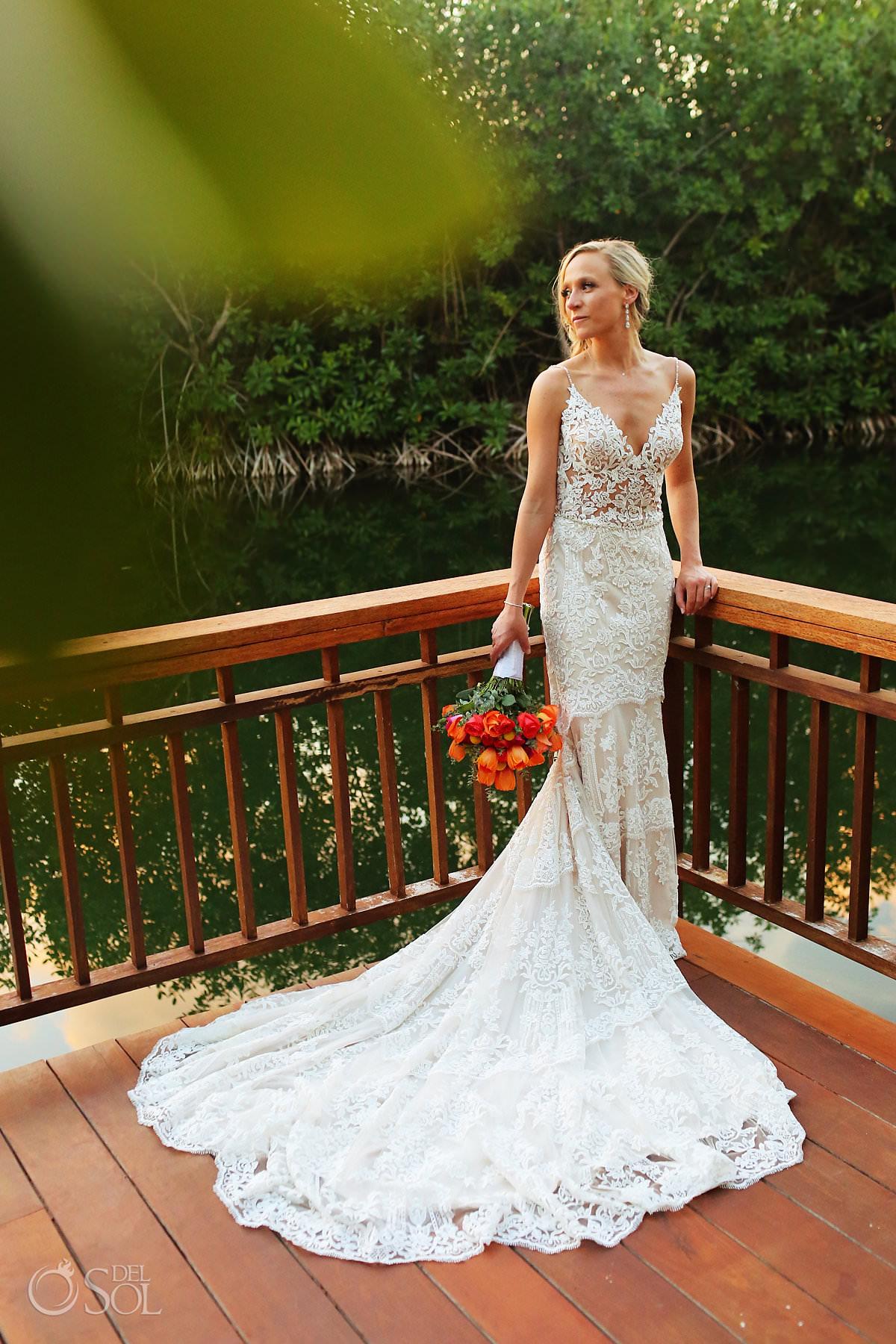 Beautiful bride Andaz Mayakoba Wedding