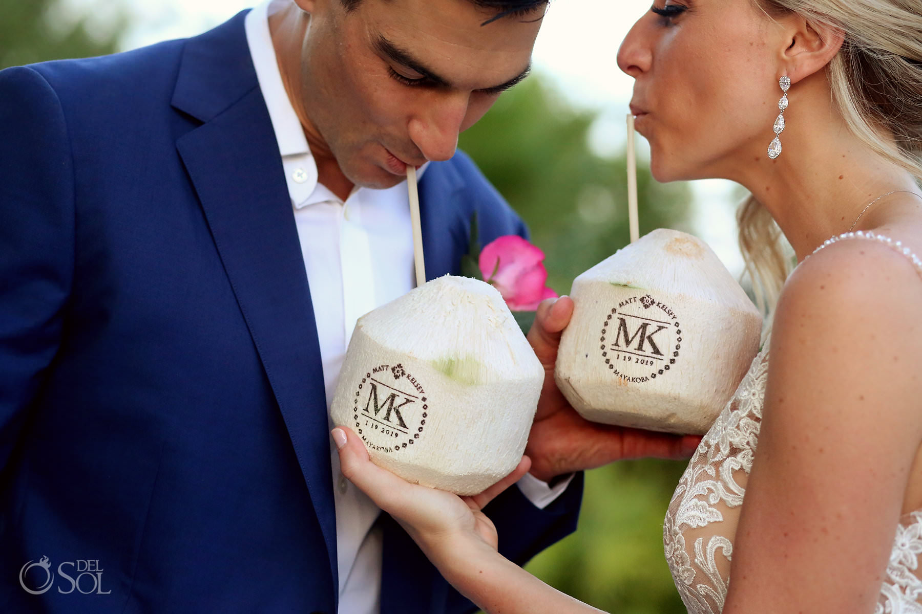 Andaz Mayakoba Wedding custom coconuts
