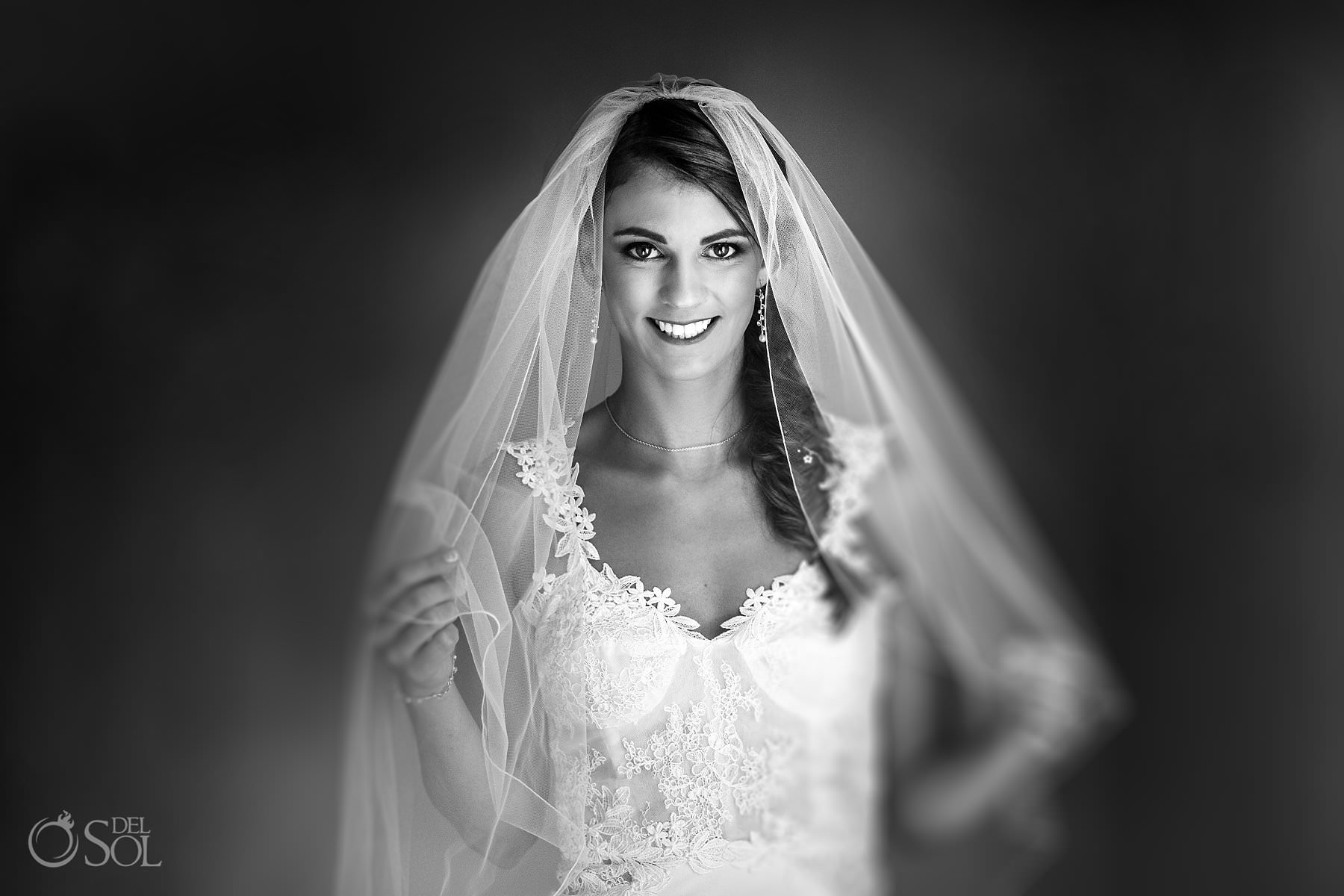 Beautiful Bride black and white photo by Sol Tamargo