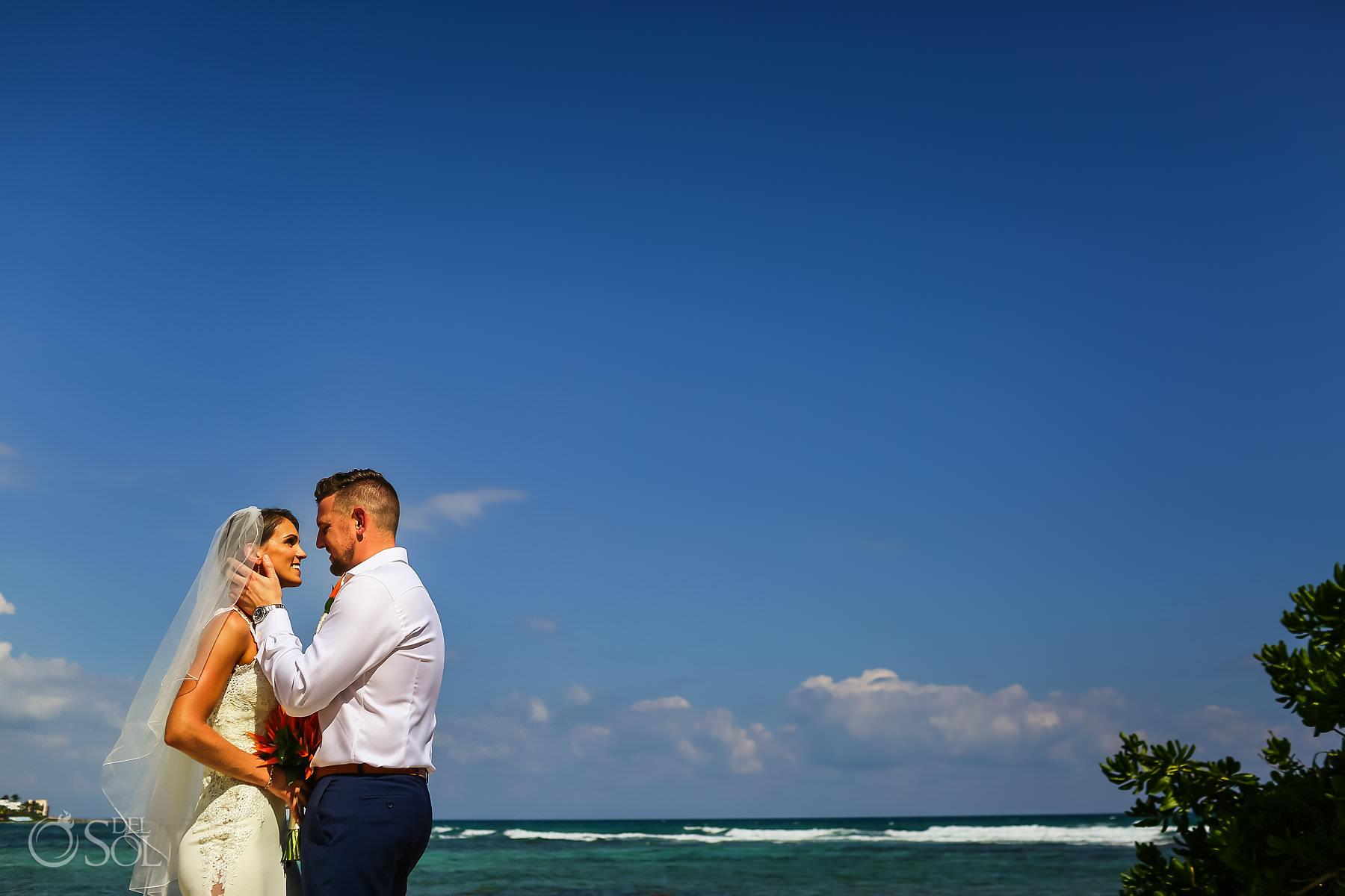 Villa de Valhalla Akumal Wedding First Kiss