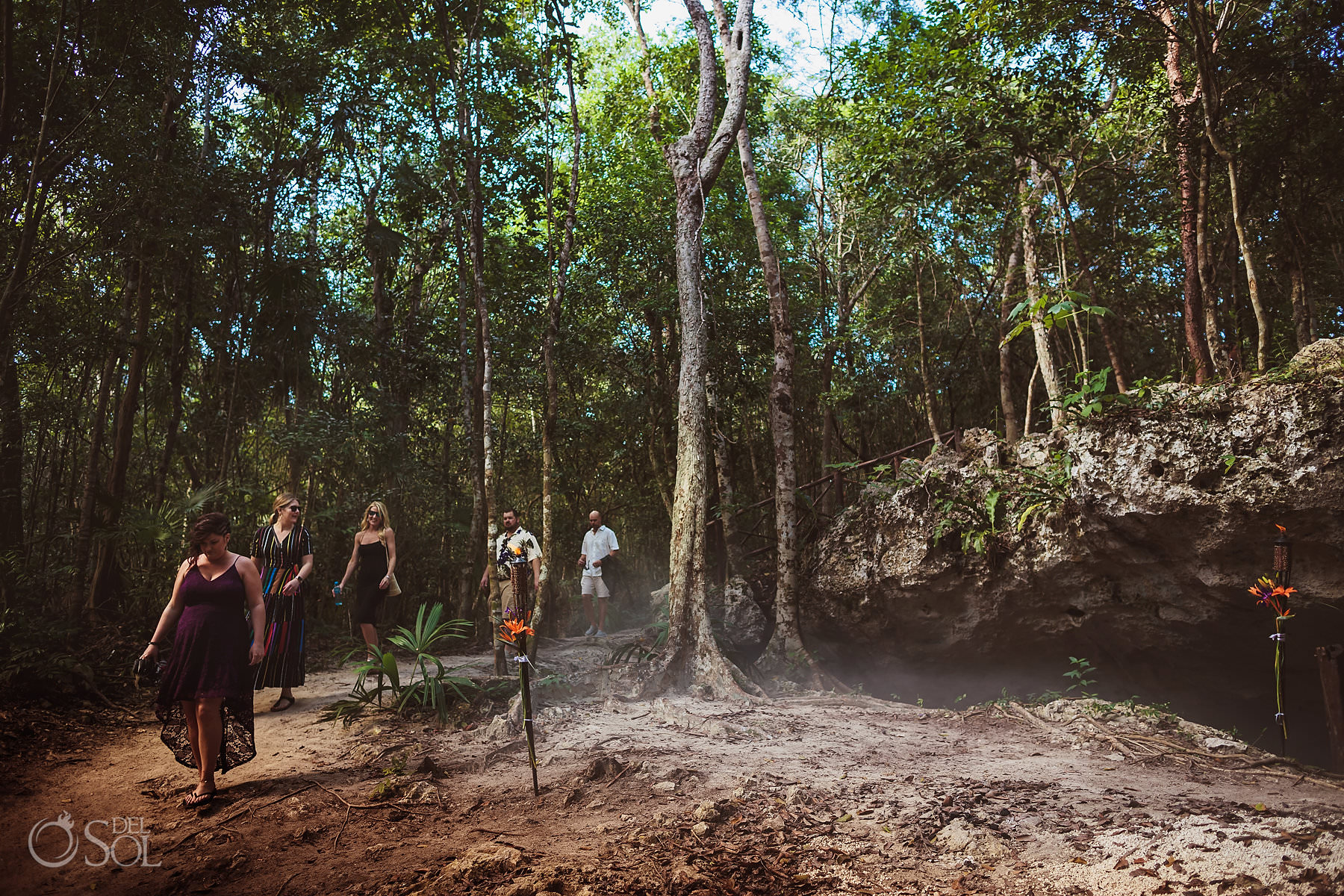 Akumal Cave Wedding in the jungle of Riviera Maya