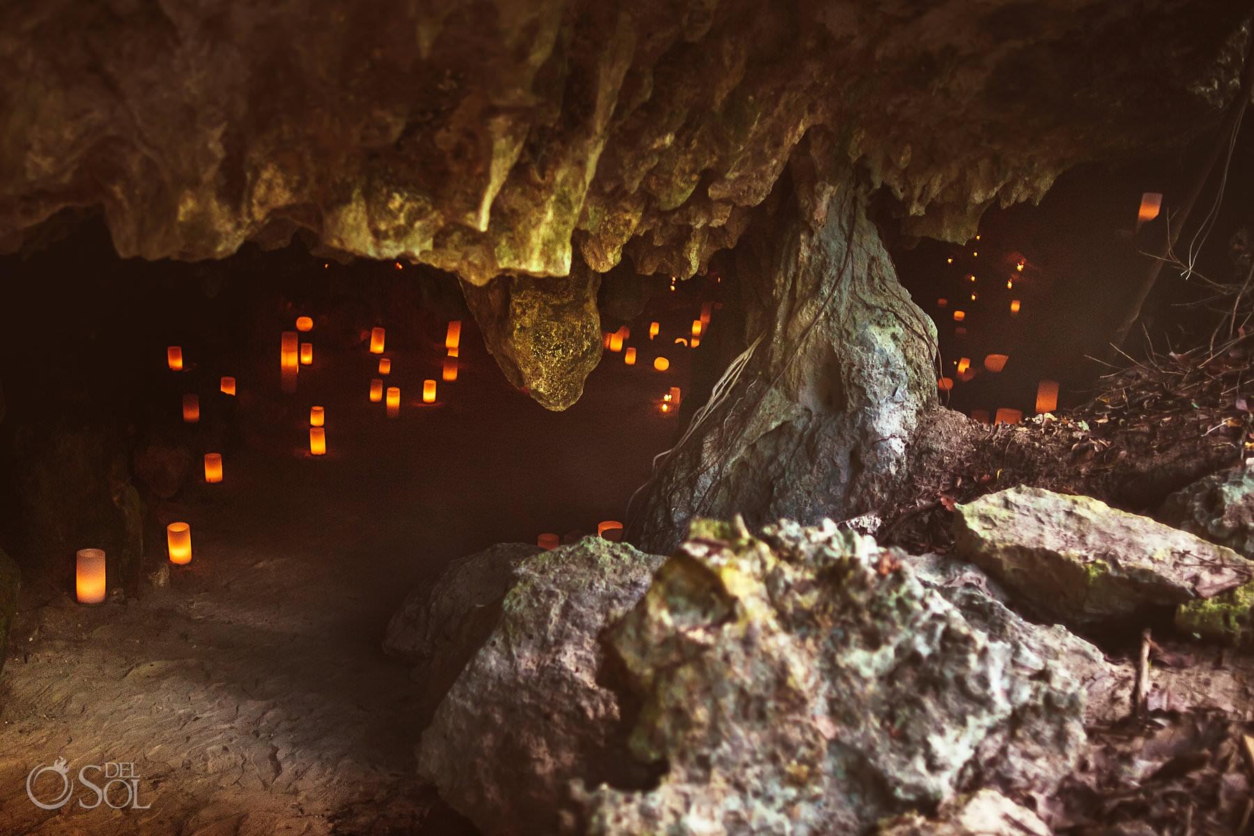 cave wedding decoration