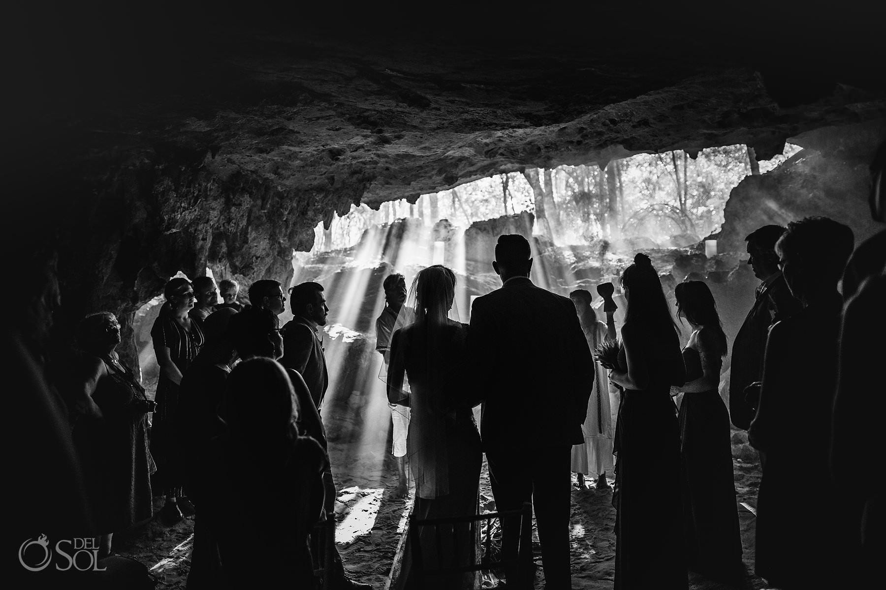Cave Wedding Ceremony Photo