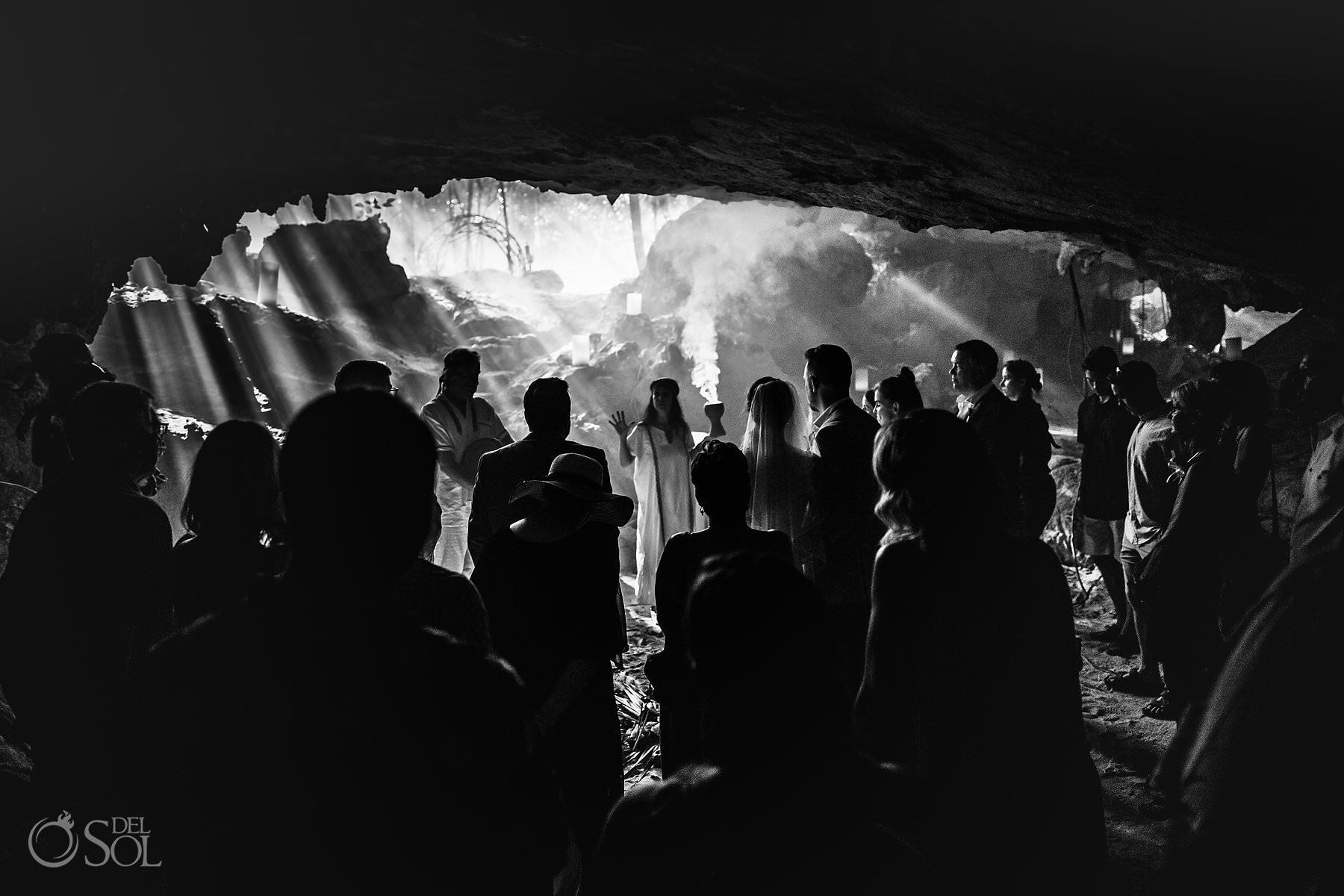 Cave Wedding Ceremony Photography