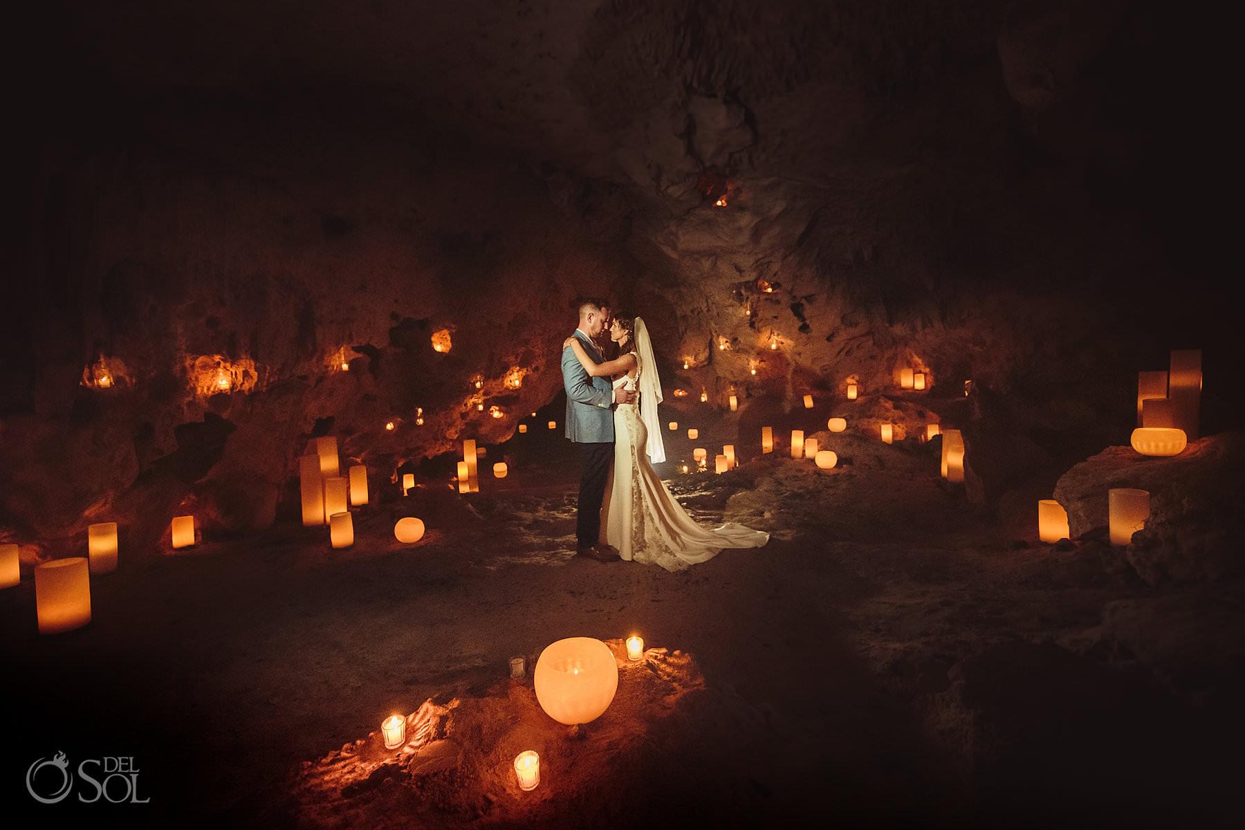 Cave Wedding candle boutique decoration