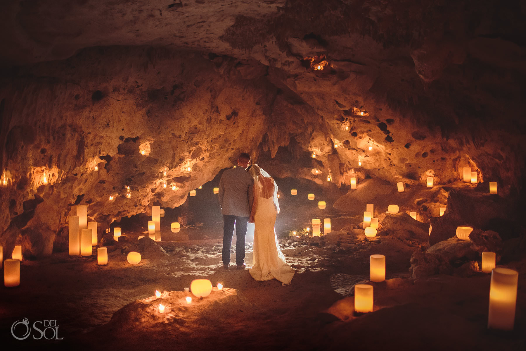 Cave Wedding Photography underground in Mexico