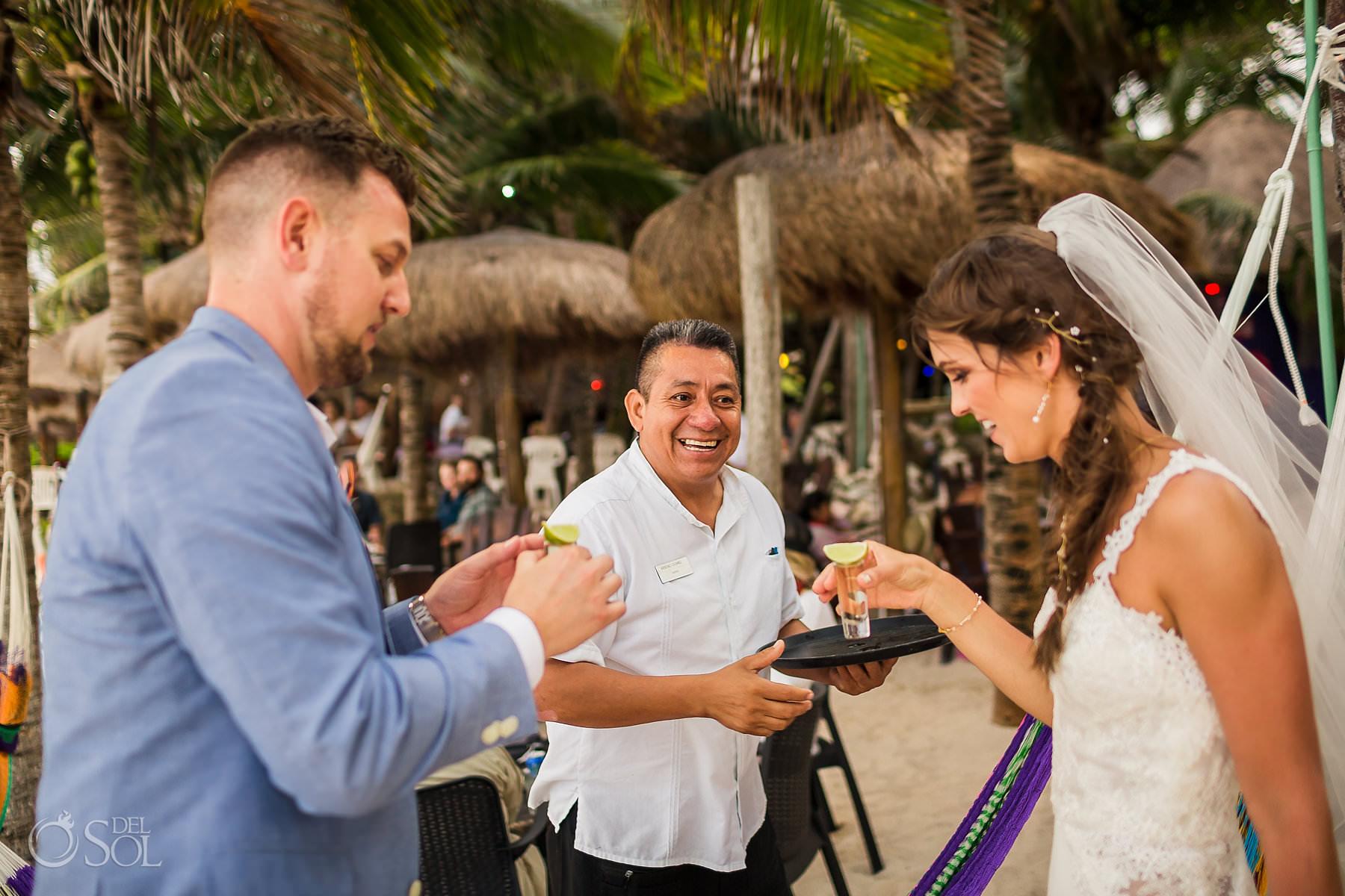 tequila La Buena Vida wedding reception