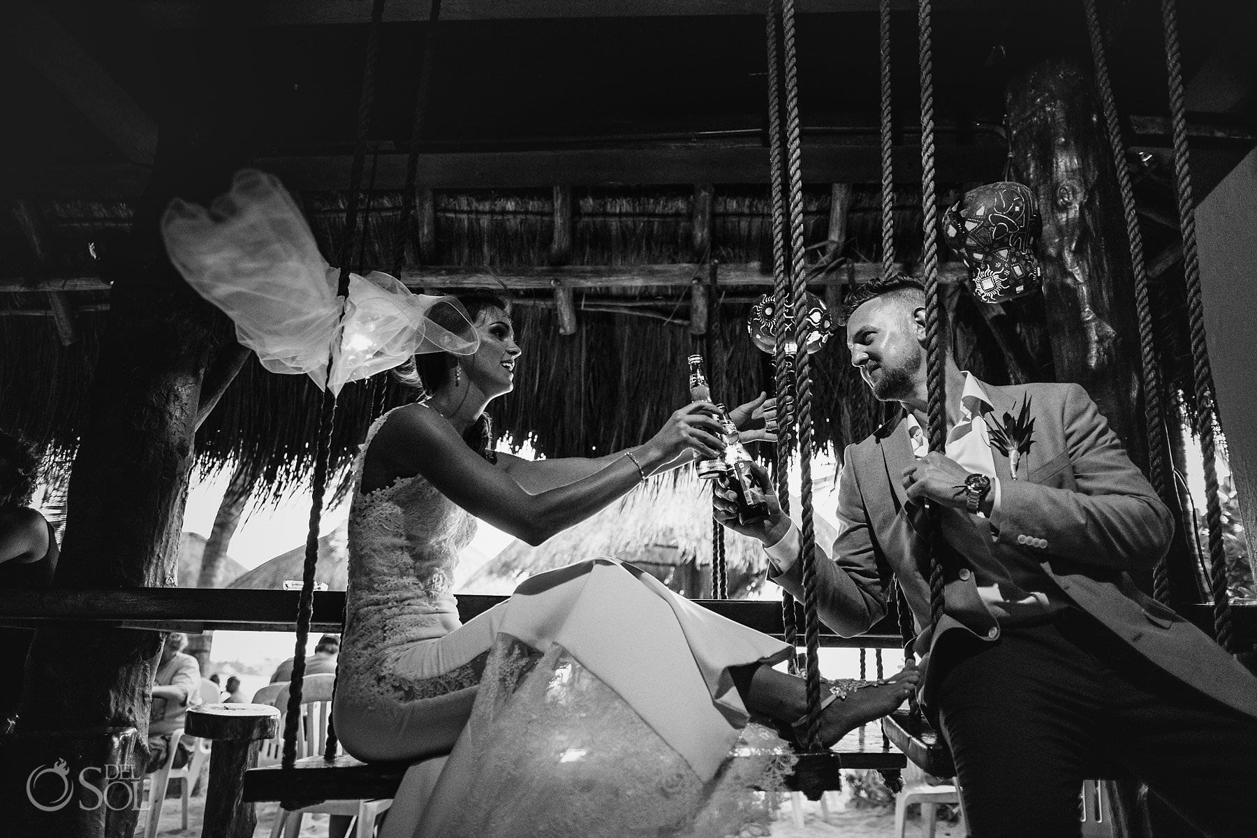 Wedding toasts Akumal La Buena Vida