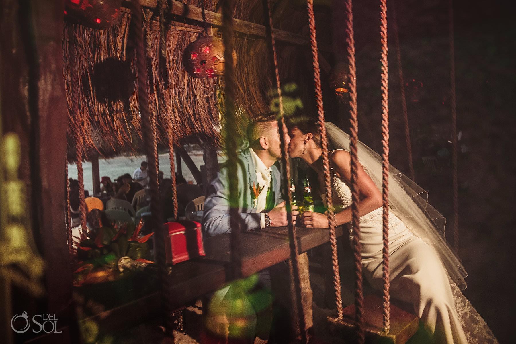 Wedding Akumal La Buena Vida swings