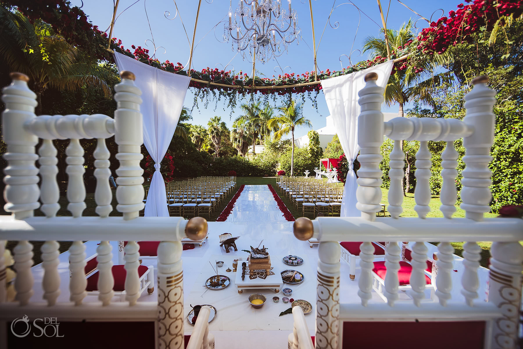 Mexico South Asian Wedding Setup Shaadi Package Mandap Dreams Tulum Dreams Garden Riviera Maya