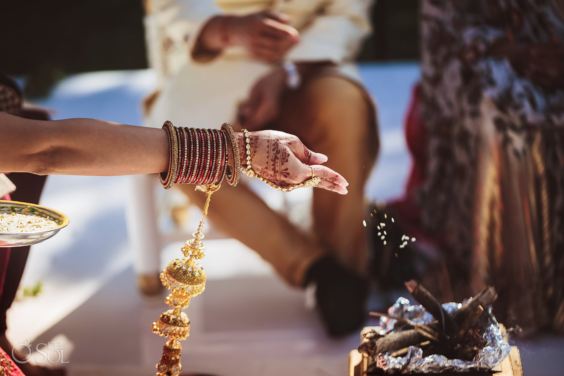Mexico Indian Wedding tradition Laja Homa homam Dreams Tulum Riviera Maya