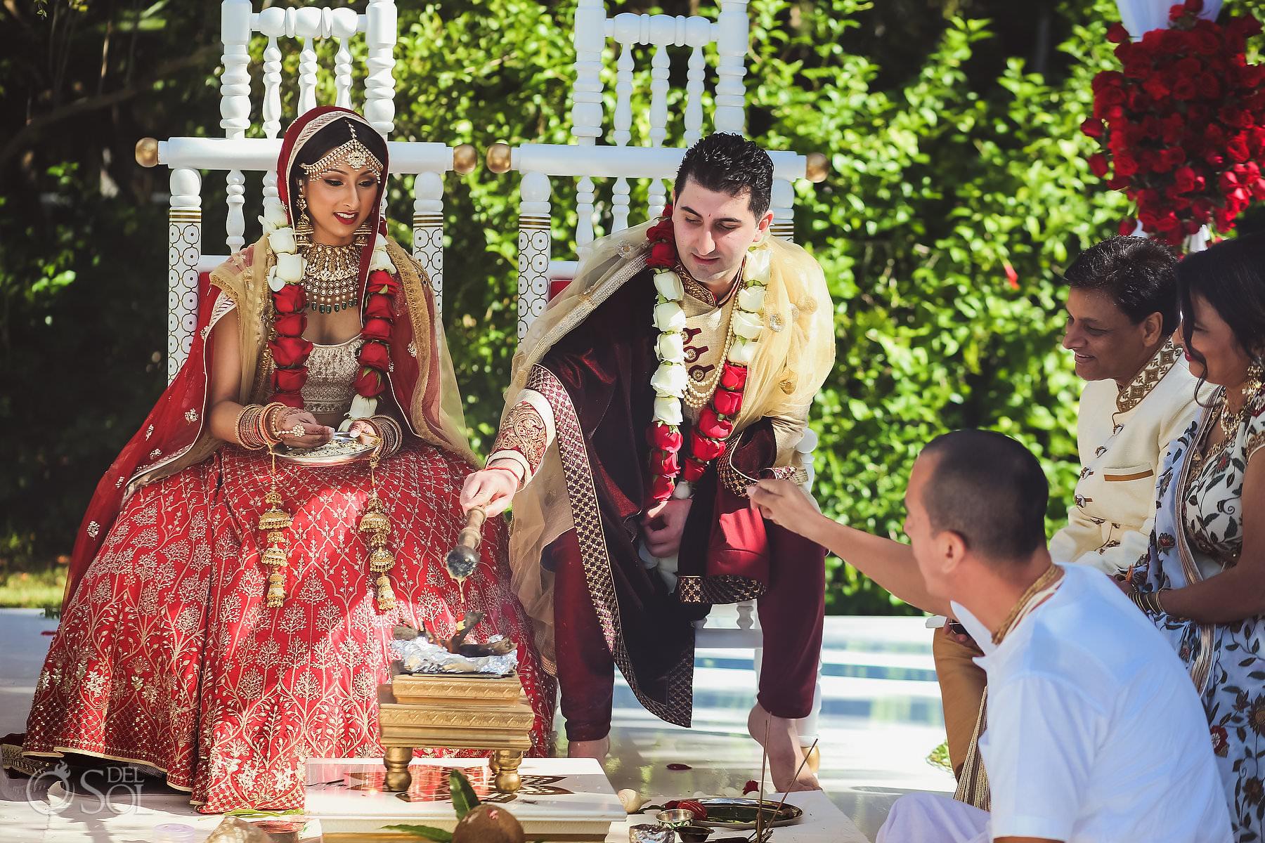 Mexico South Asian Wedding cultural ceremony Dreams Tulum Riviera Maya
