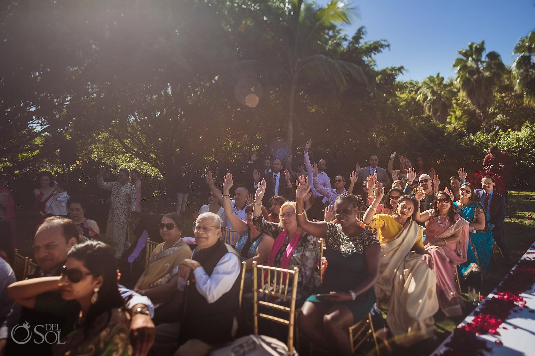 Hin-Jew multicultural wedding guests Dreams Tulum Riviera Maya