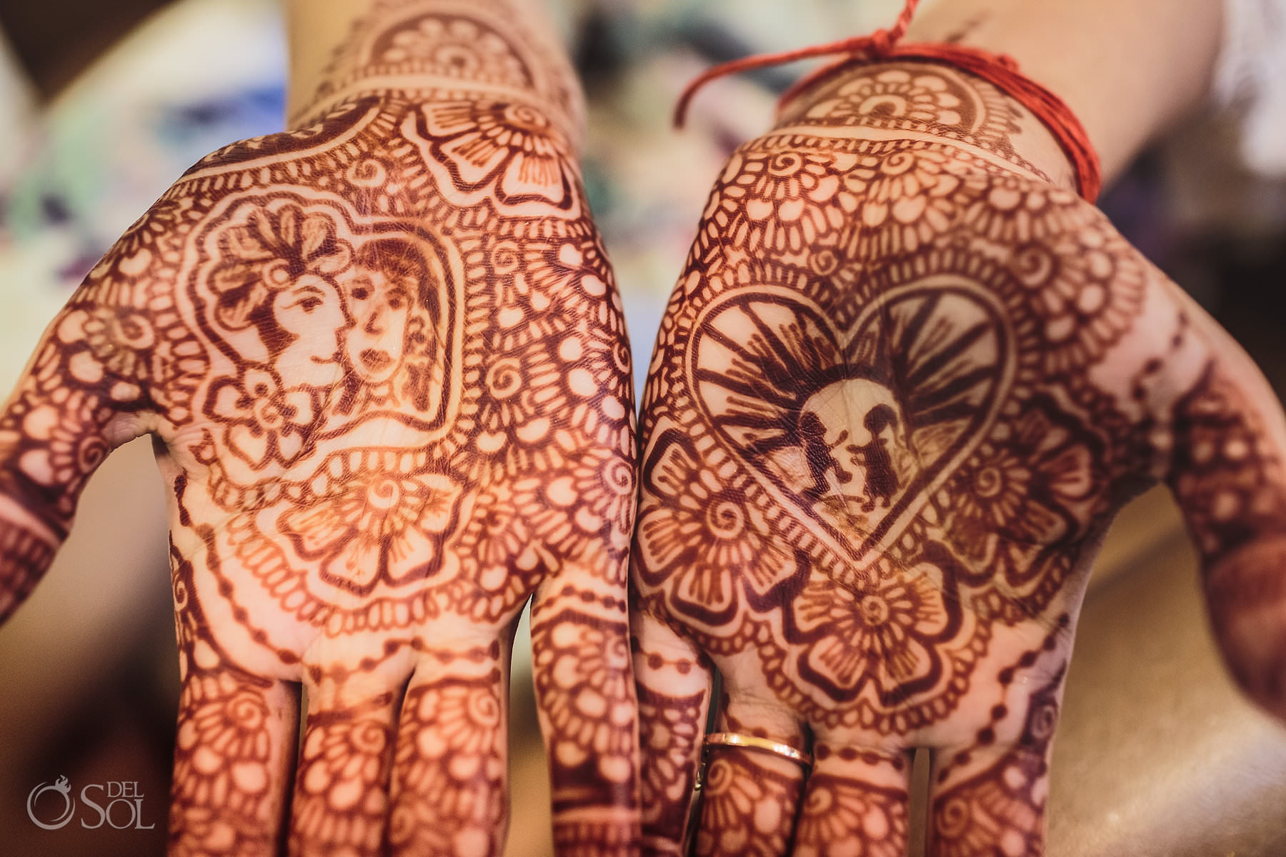 Henna Mehndi ceremony Tulum Jewish wedding