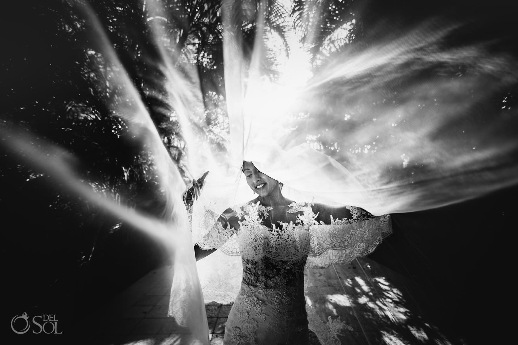 Dreams Tulum Jewish bride long veil