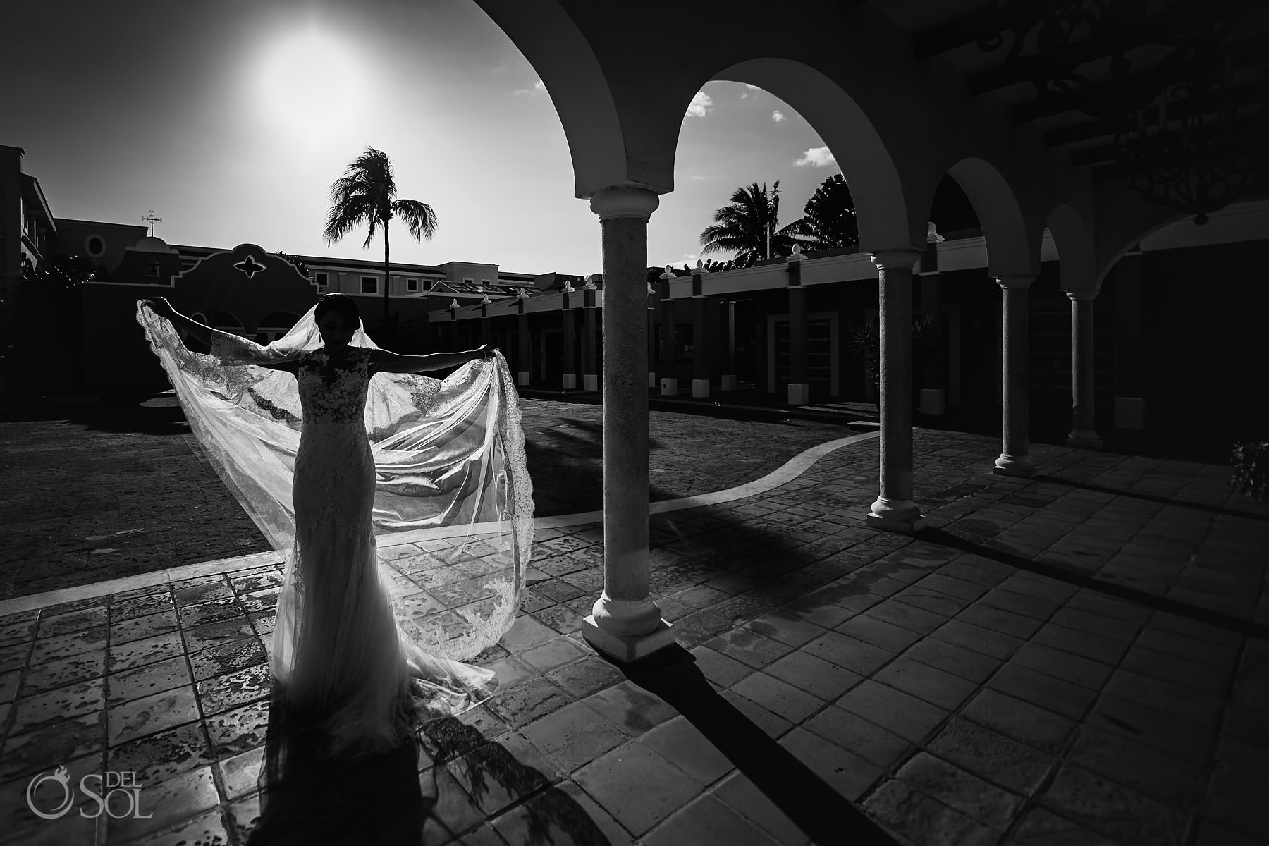 Beautiful Dreams Tulum Bride black and white