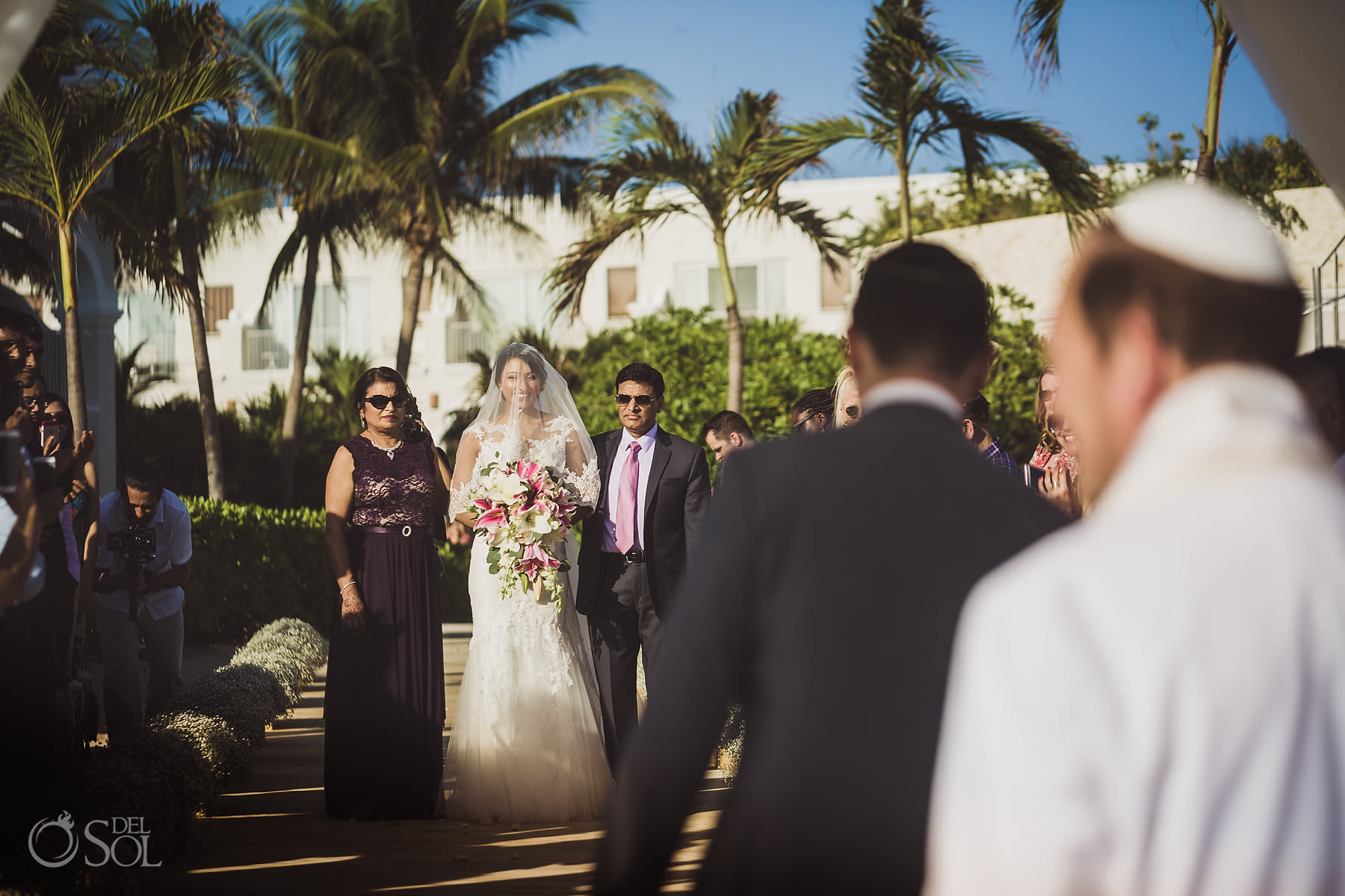 Dreams Tulum Jewish Wedding first look
