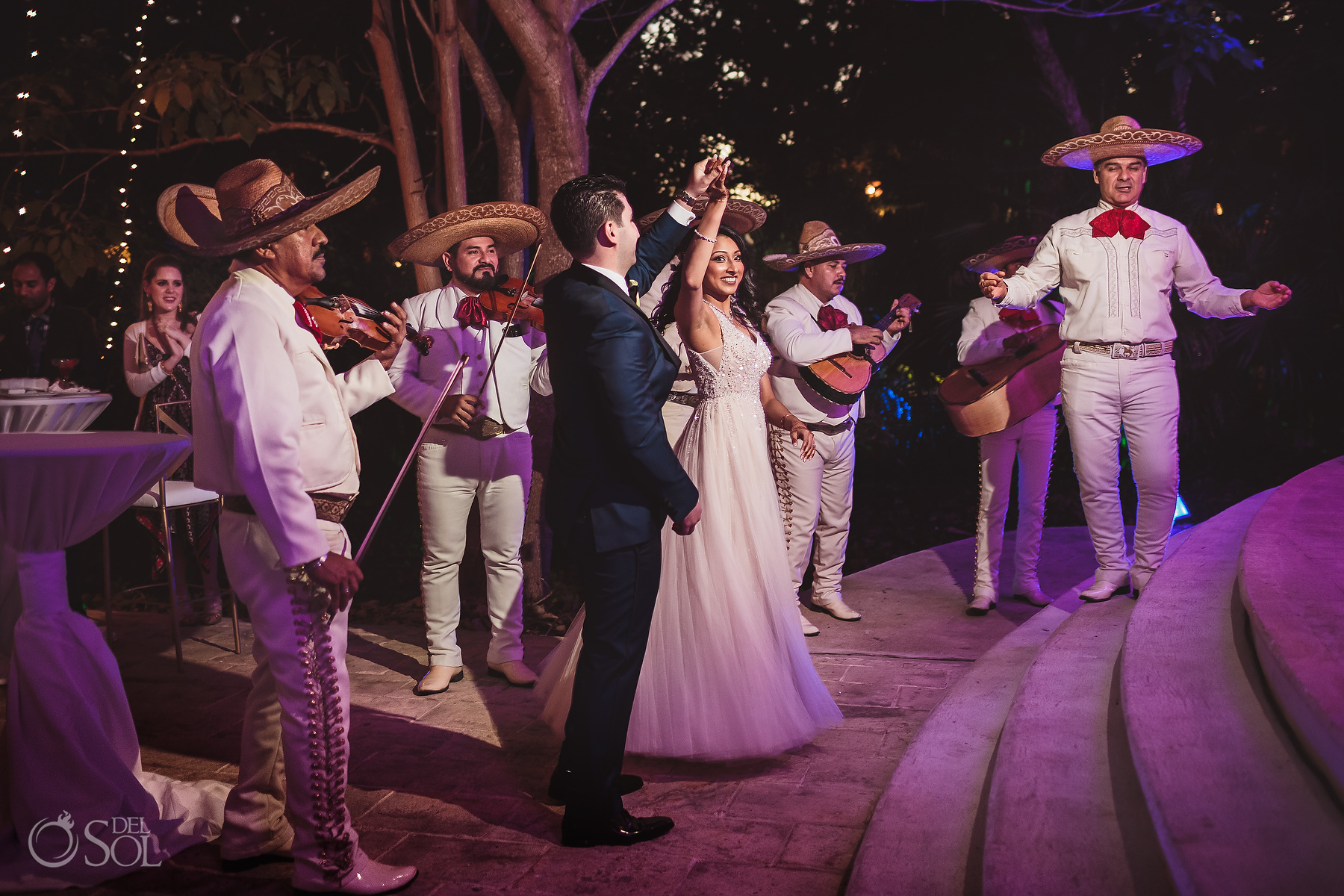 Mexican Mariachi Welcome Cocktail Dreams Tulum Hin-Jew wedding