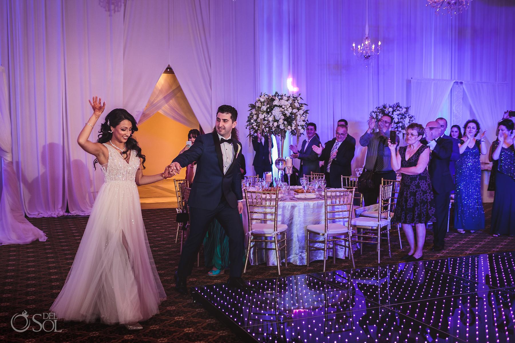 Bride and Groom Entrance Ballroom Tulum Jewish Wedding Reception