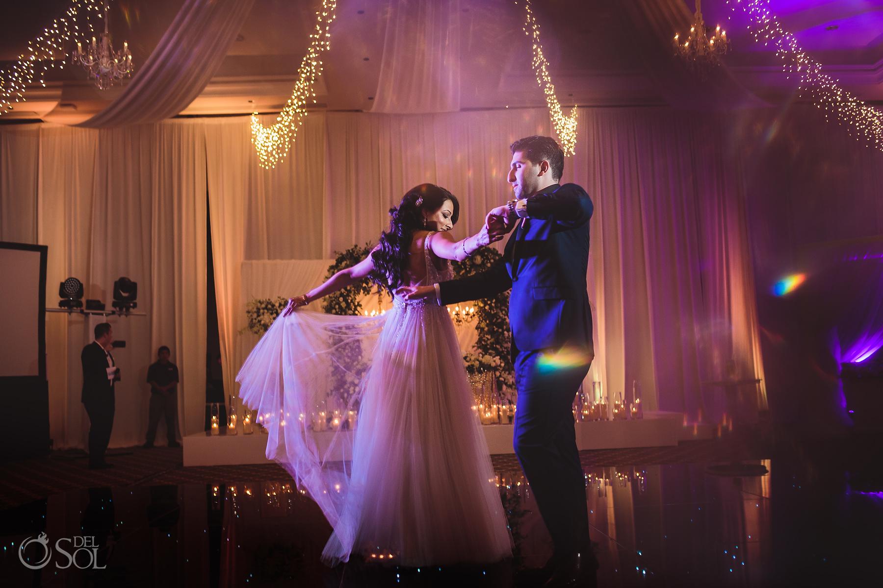 Dreams Tulum Ballroom jewish wedding first dance
