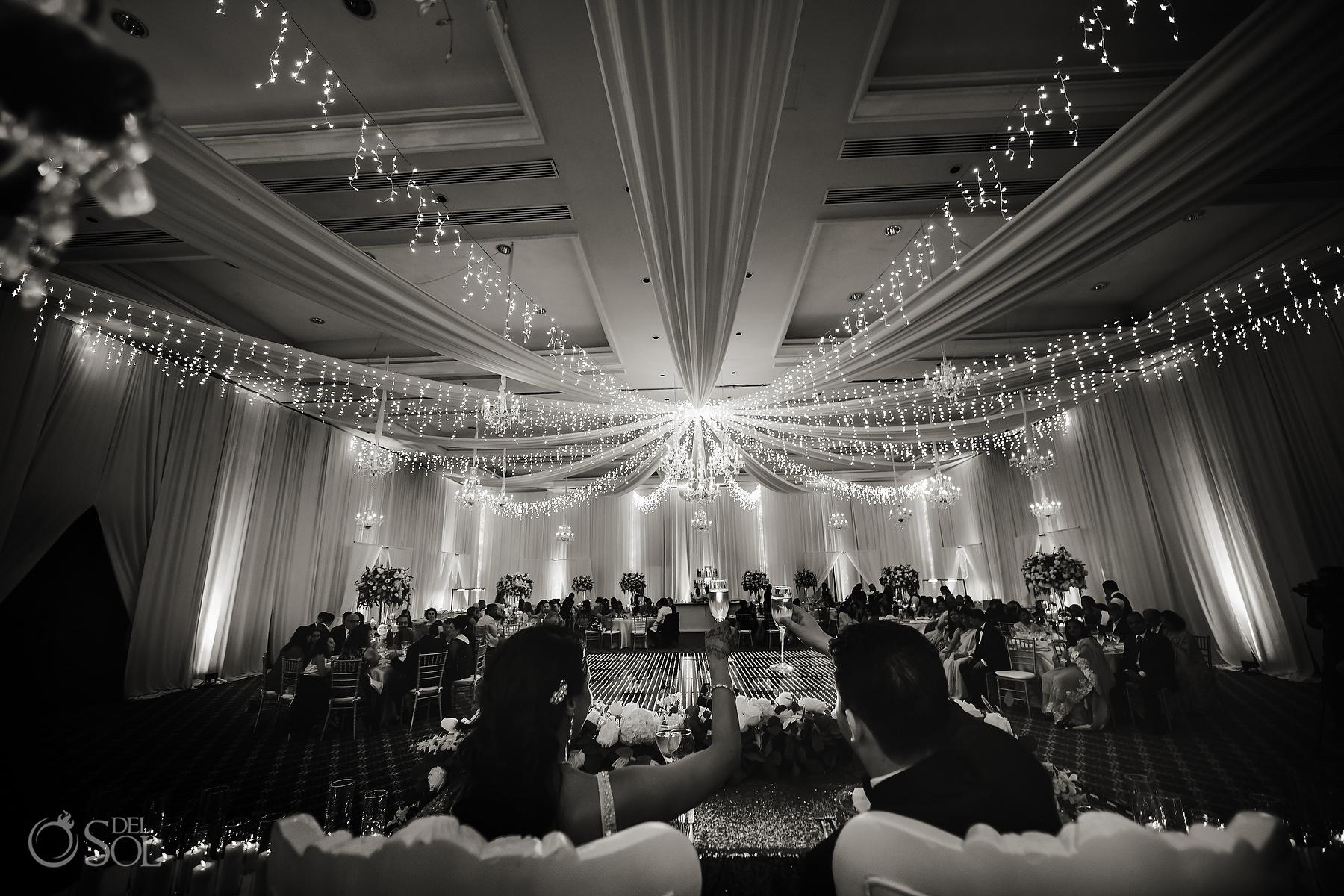 Cheers Dreams Tulum Ballroom wedding reception