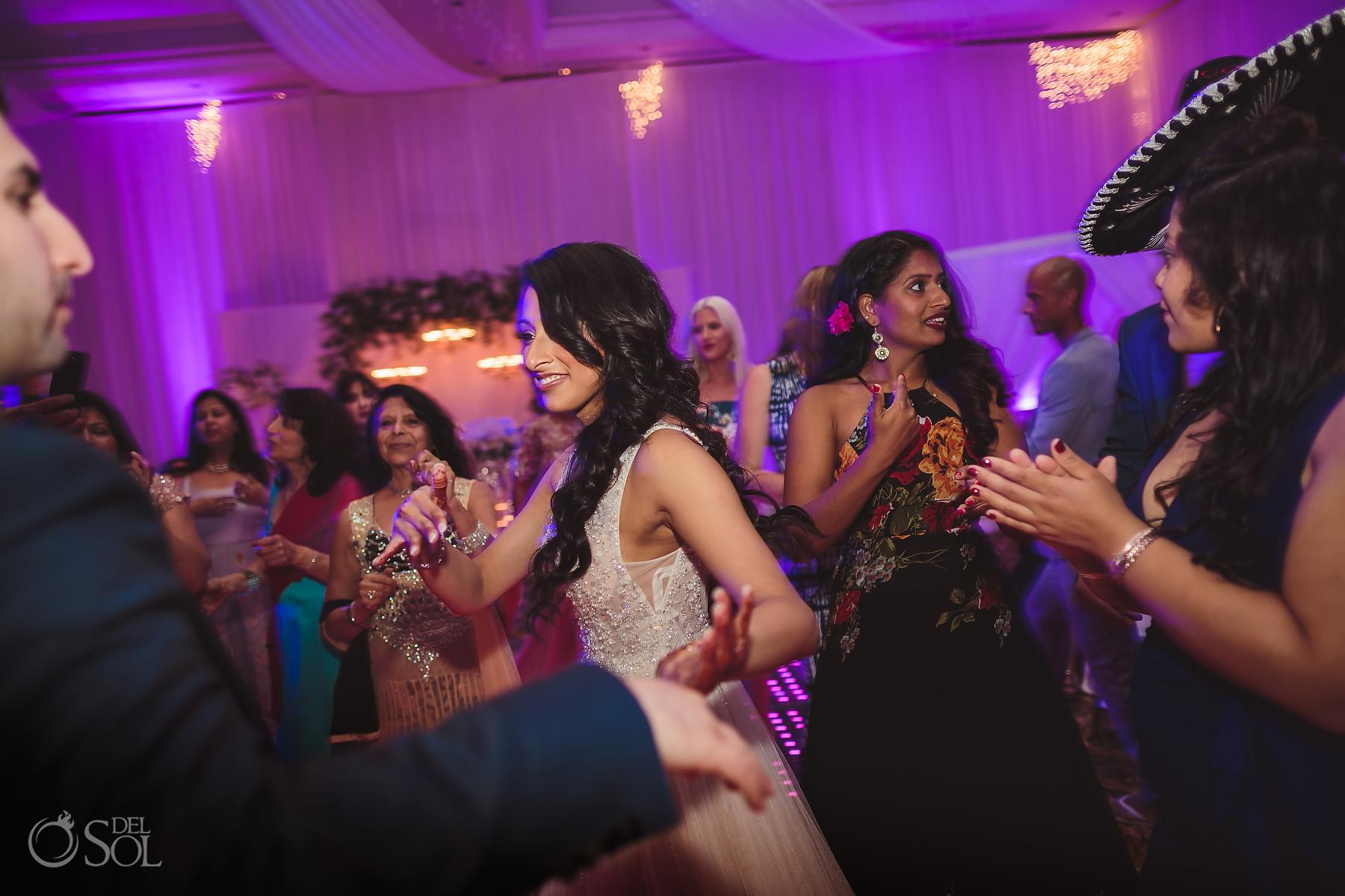 Dancing Bride at Dreams Tulum Jewish Wedding Reception