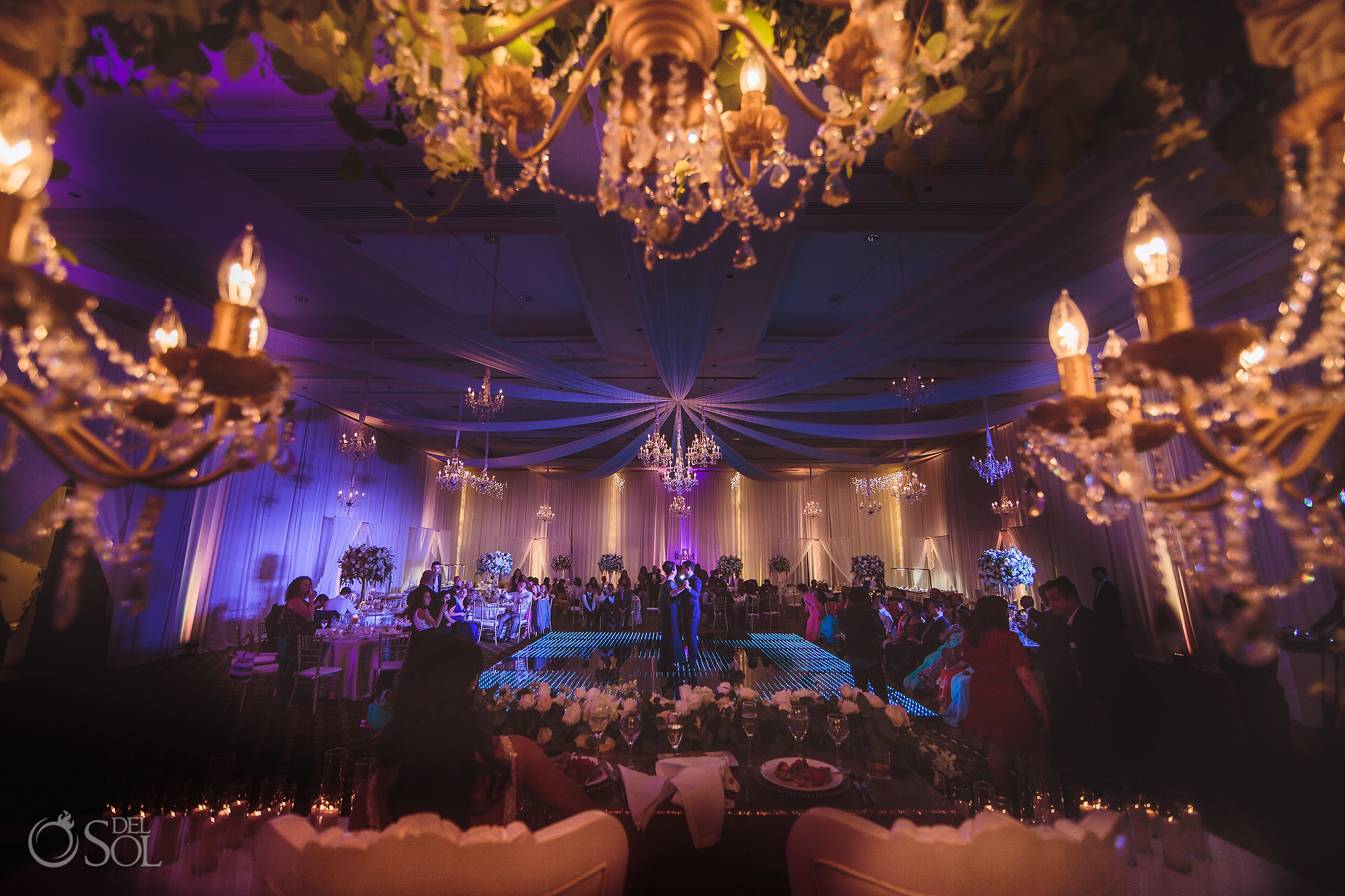 Beauty and the beast wedding decoration Dreams Tulum Hin-Jew wedding