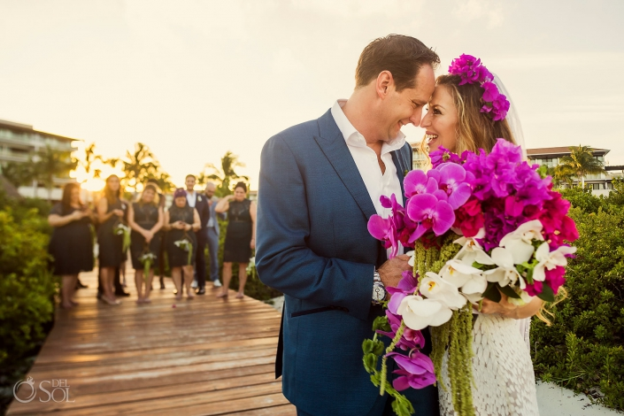 bride and groom greek destination wedding Dreams playa mujeres
