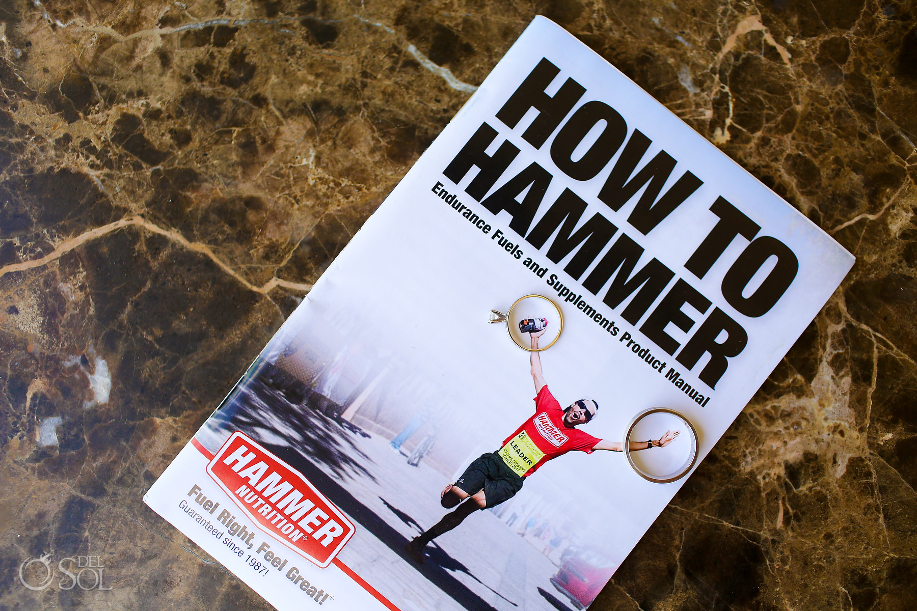 Traithlon triathlete wedding sponsored by Hammer nutrition How to Hammer wedding rings
