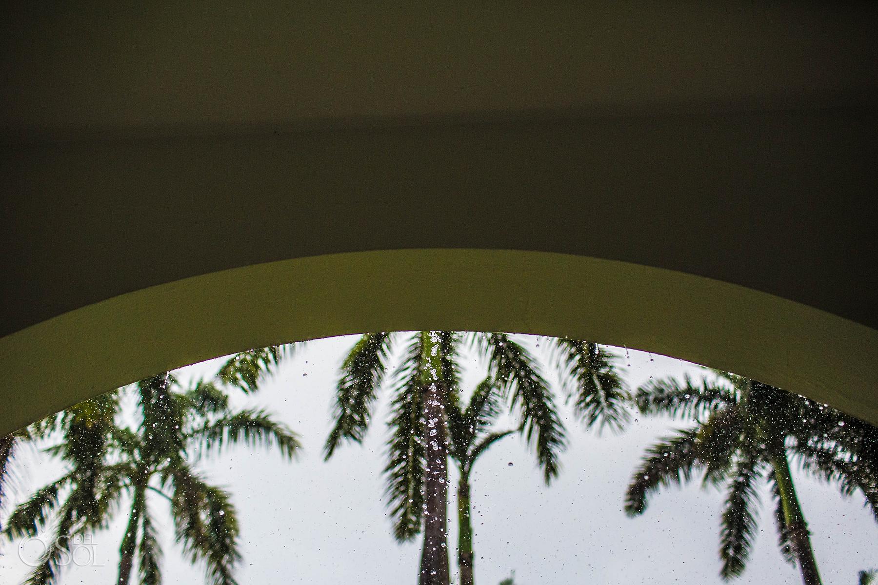 raining at Riu Palace Mexico