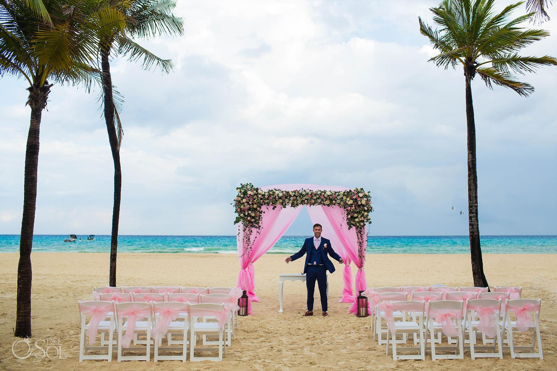 Riu Palace Mexico Wedding Photographer groom