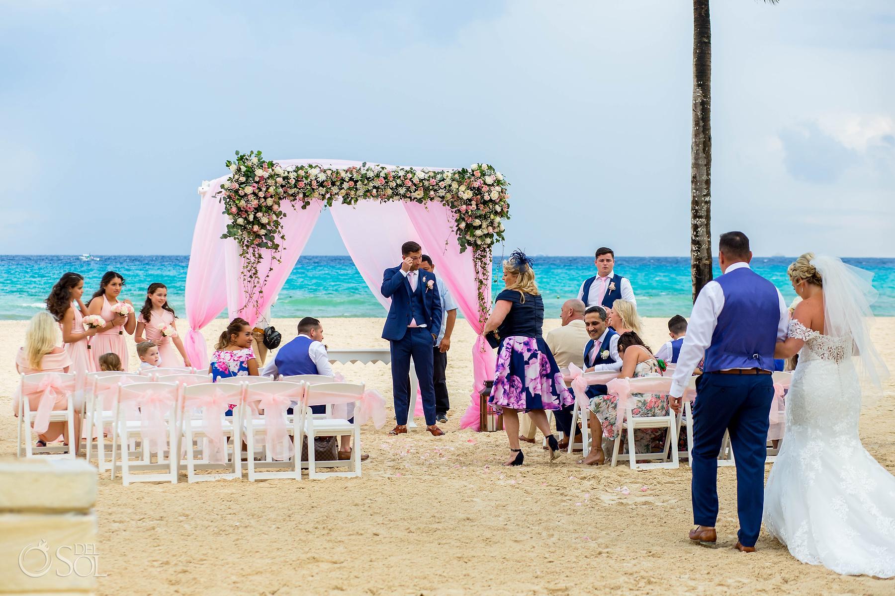 Riu Palace Mexico Wedding Photographer groom crying