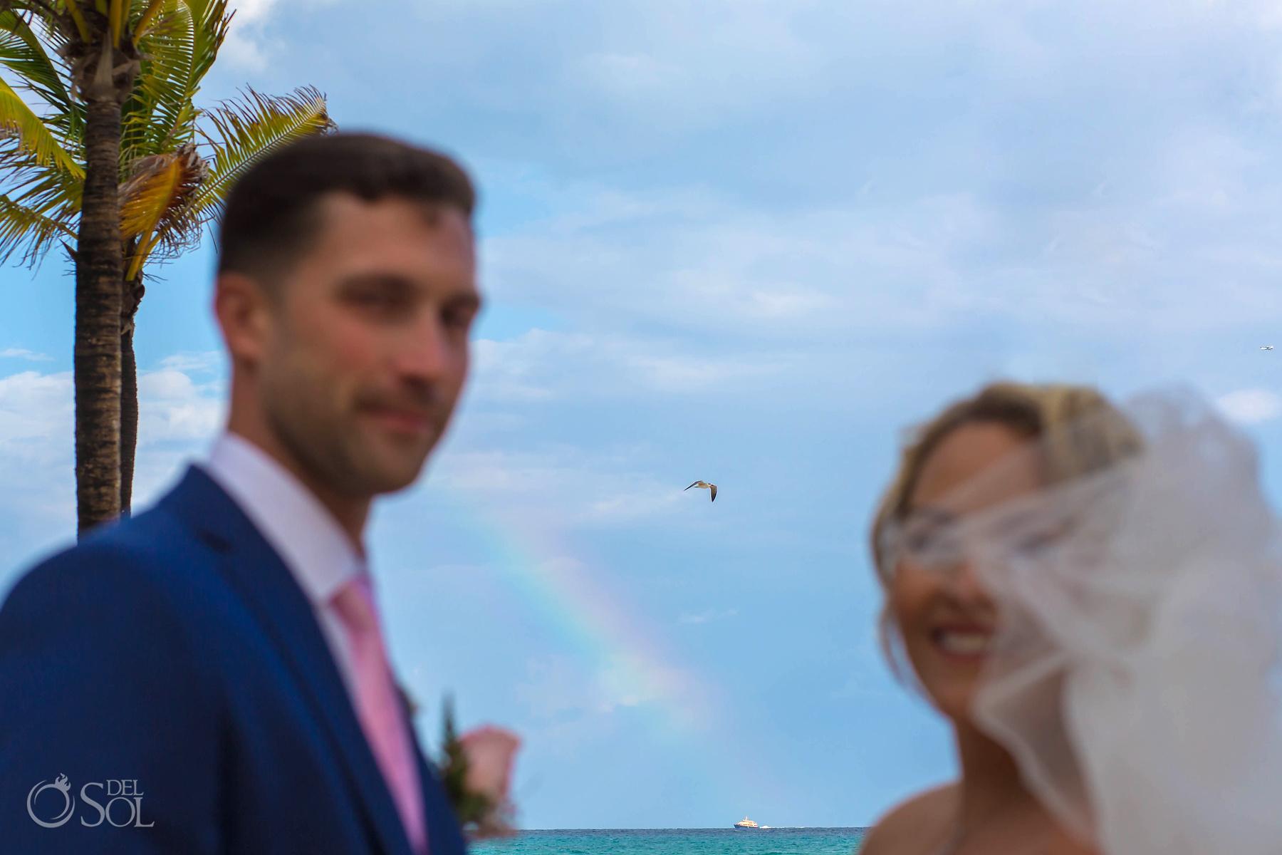 Riu Palace Mexico wedding photographer rainbow Playa del Carmen Mexico