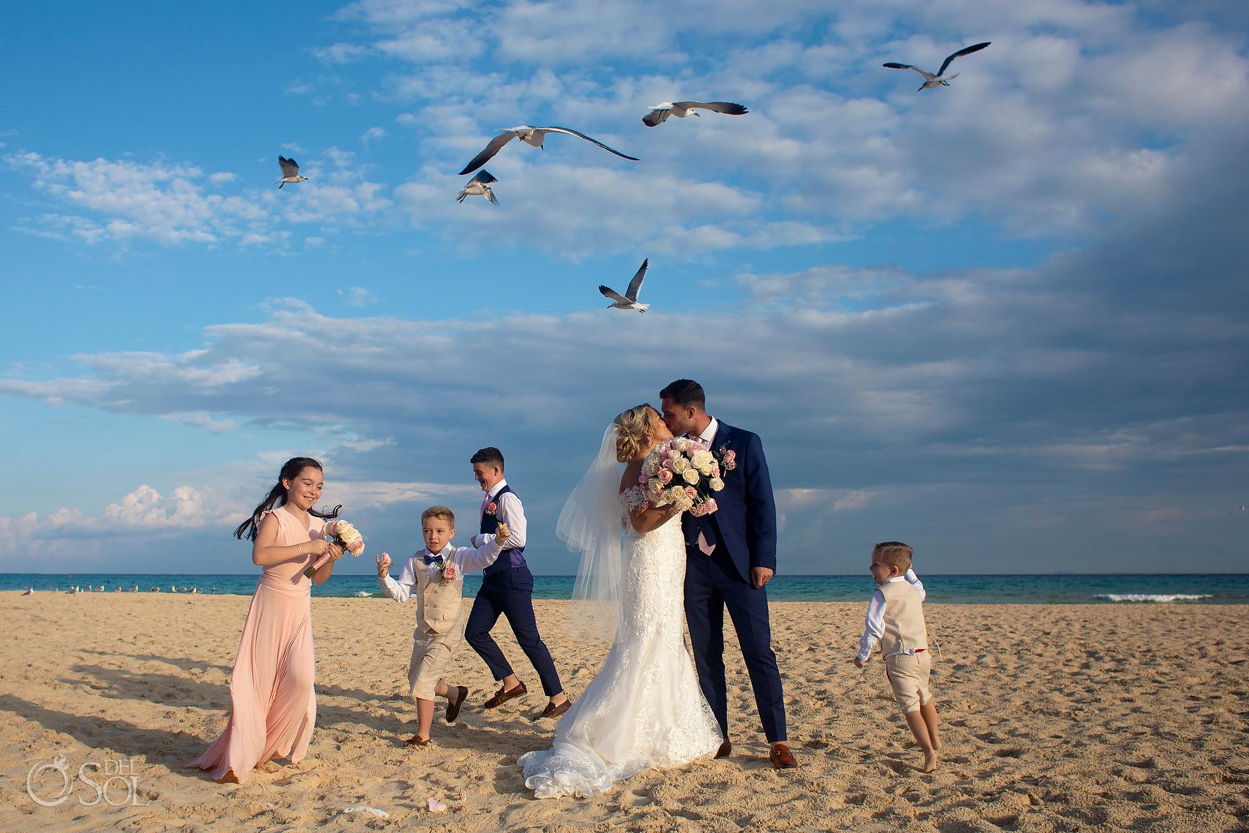 family action photoshoot riu palace mexico wedding photographer