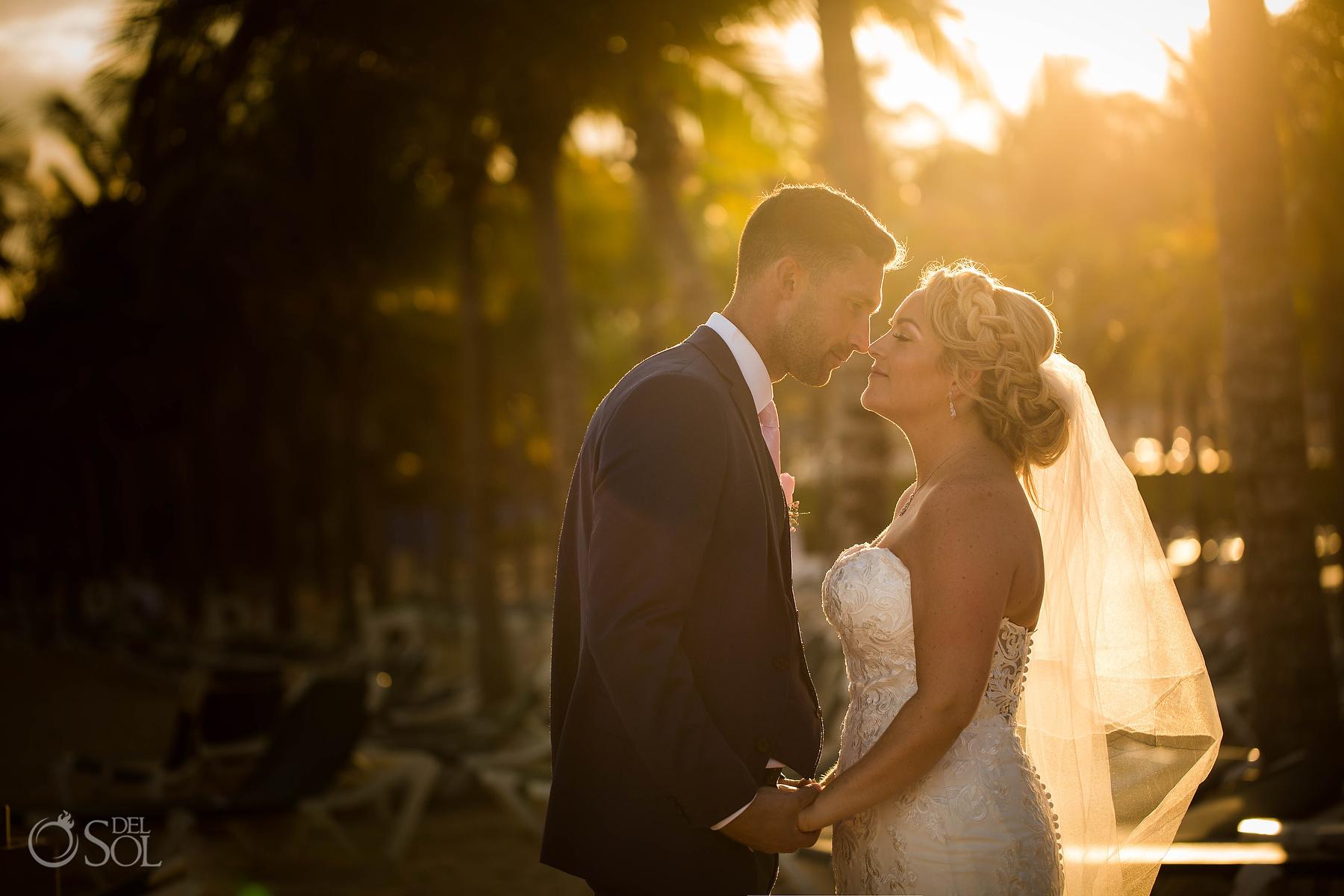 Sunset Gold light Wedding photoshoot Riu Palace Photographer
