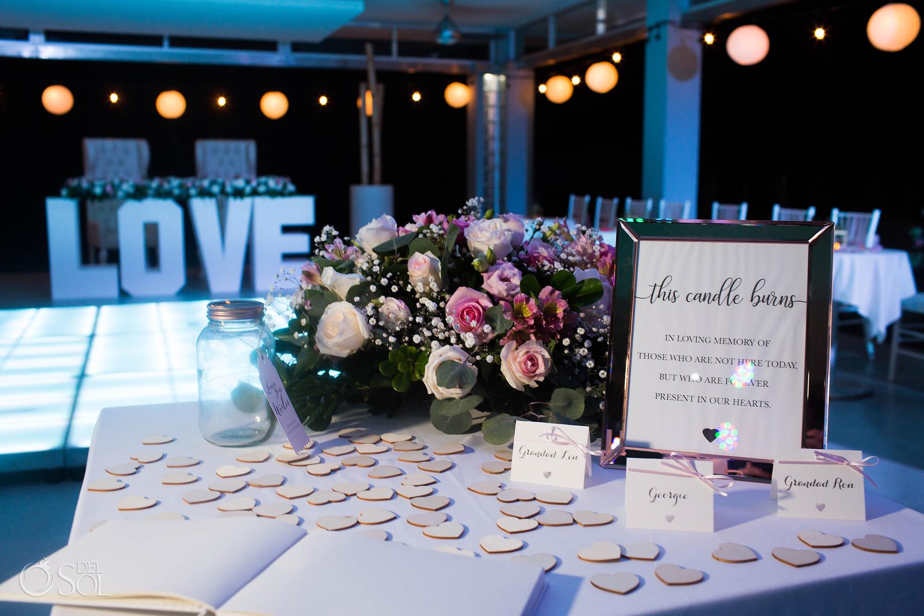 Riu palace mexico wedding reception setup