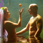 adam and eve apple of discord conceptual fine art photography