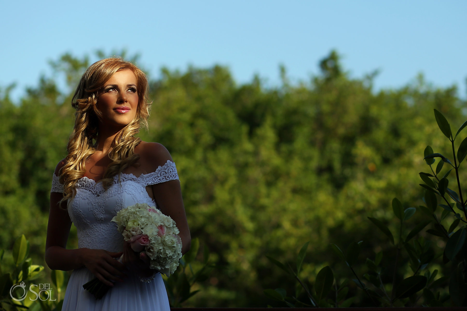 Beautiful Bridal Portrait at mangroves in the Best elopement location Mexico