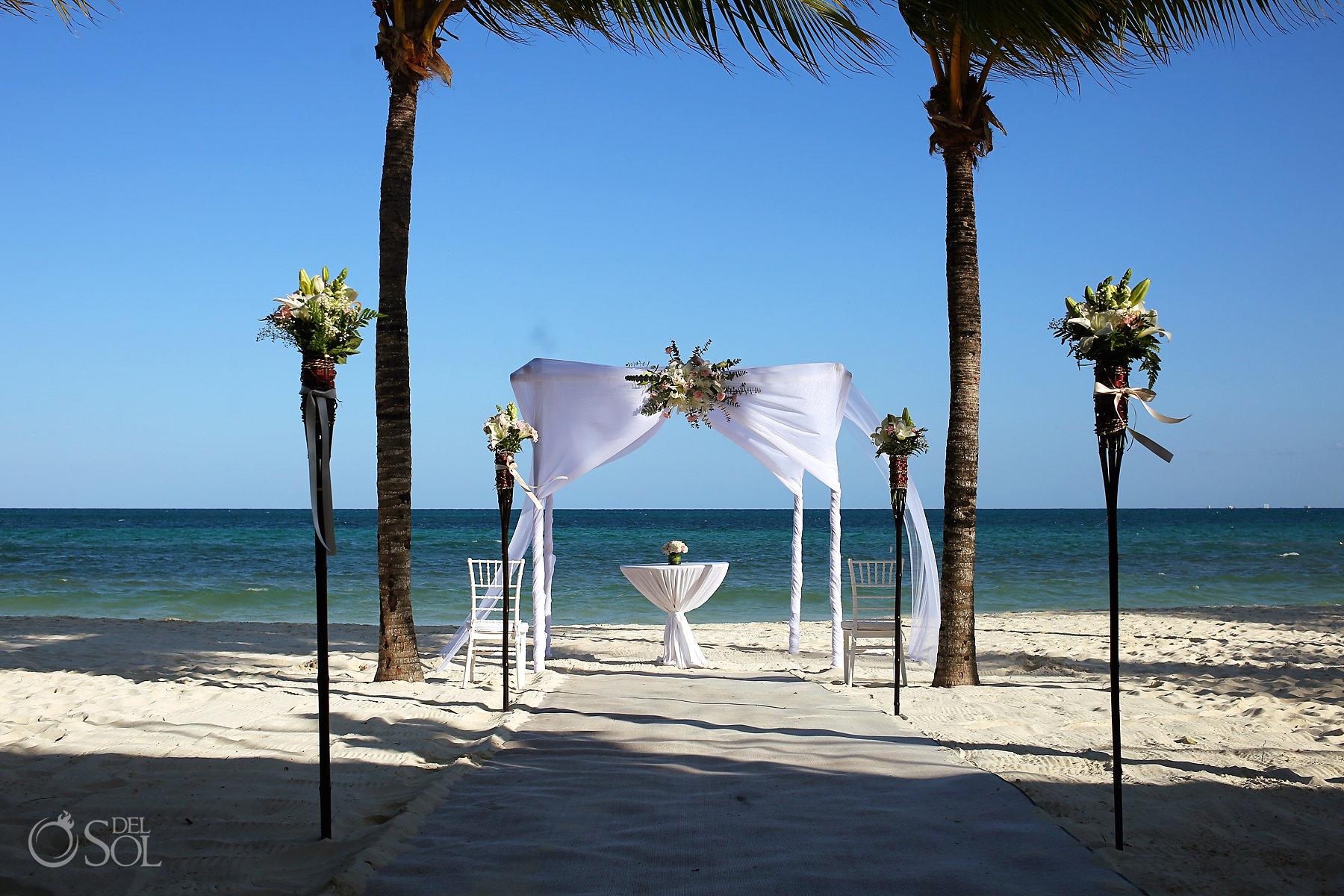 Beautiful Elopement Ceremony Blue Ocean Beach Setup Best Elopement Locations Mexico