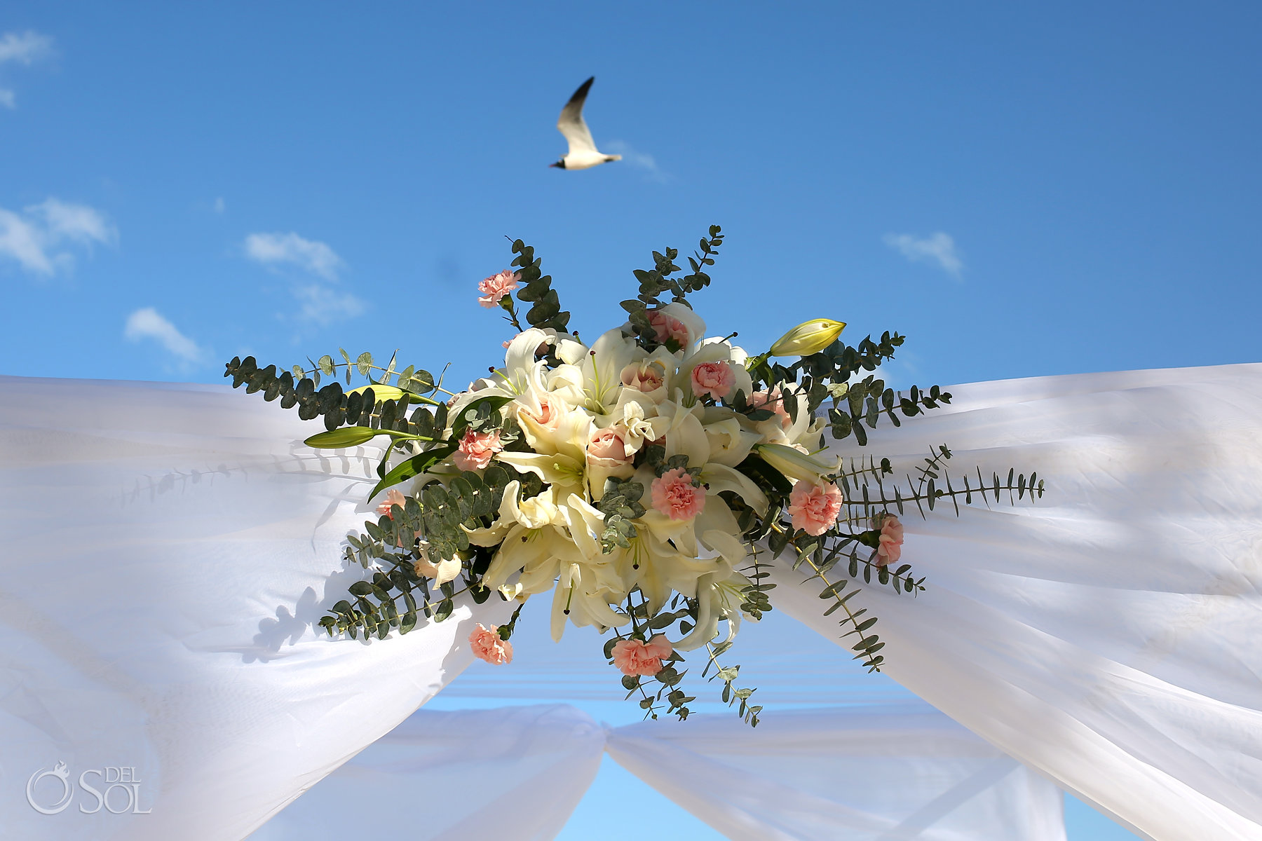 lilies roses carnations wedding decoration best elopement locations Mexico Blue Diamond Luxury Boutique Hotel