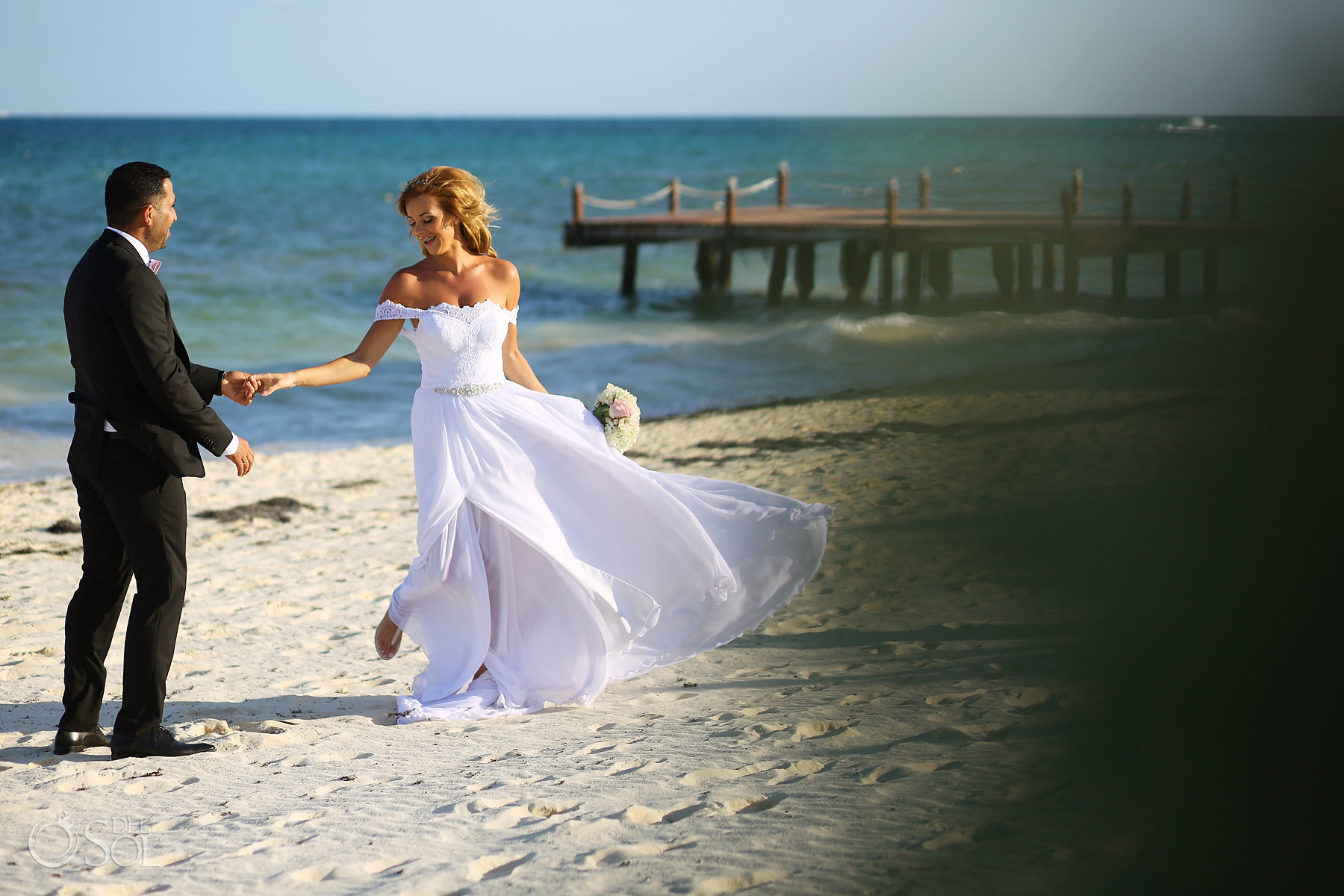 groom and bride dancing portraits outdoors Best Elopement Locations Mexico
