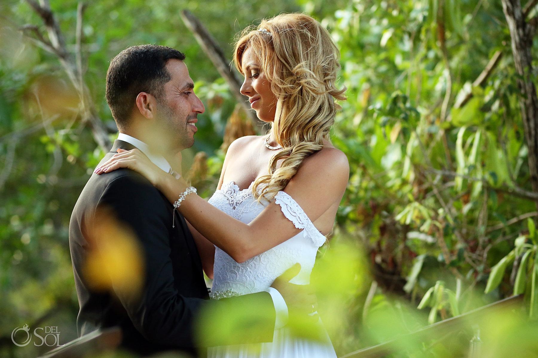 Romantic Nature Bride and Groom Portrait Best Elopement Locations Mexico