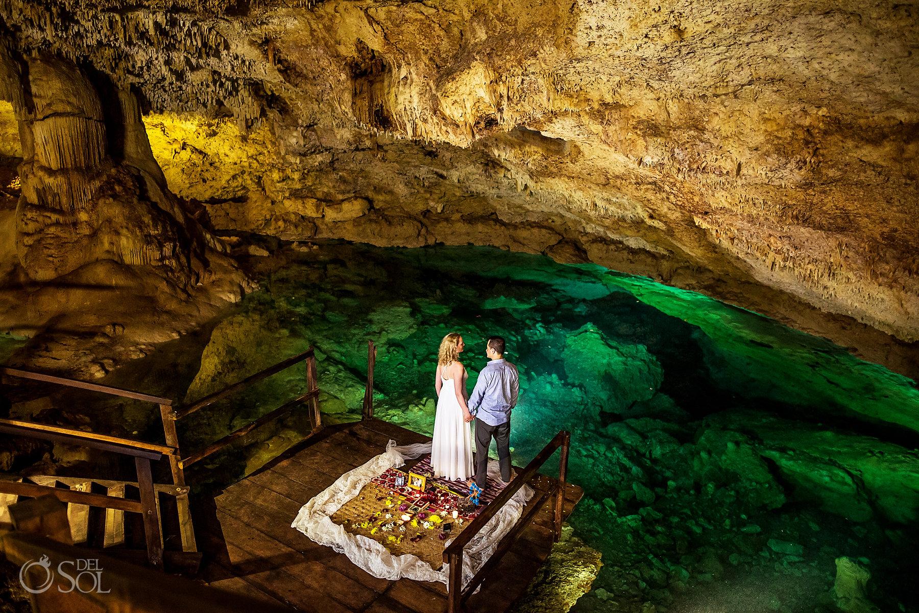 Cenote empowering ceremony birthday celebration Yucatan Mexico