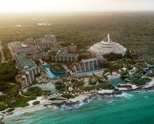Hotel Xcaret Mexico Drone aerial photography Playa del Carmen Mexico
