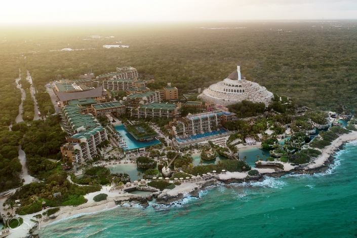 Hotel Xcaret Mexico Drone aerial photography Playa del Carmen Mexico